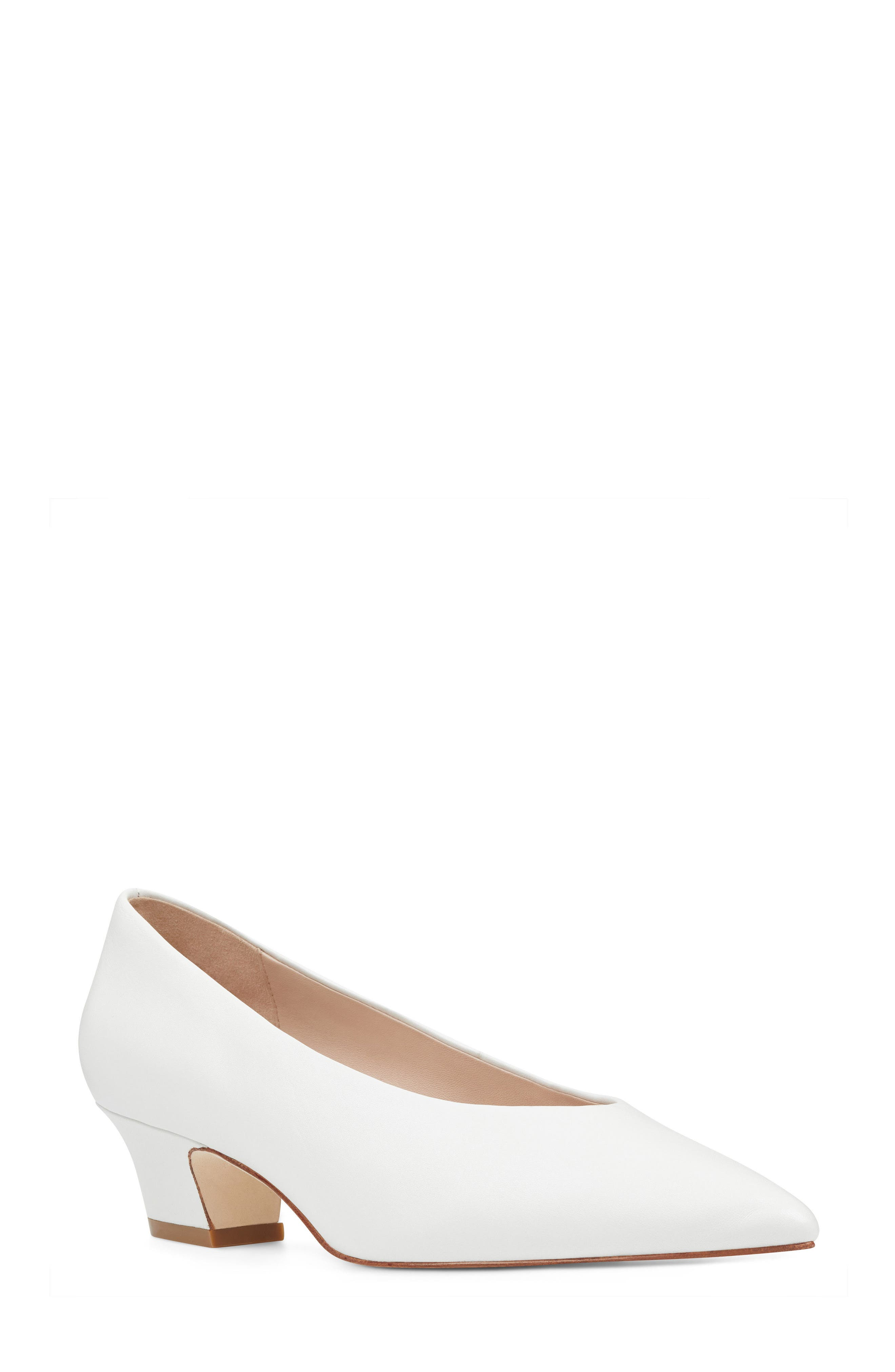 Kendra - 40th Anniversary Capsule Collection Pump,                             Main thumbnail 1, color,                             White Leather