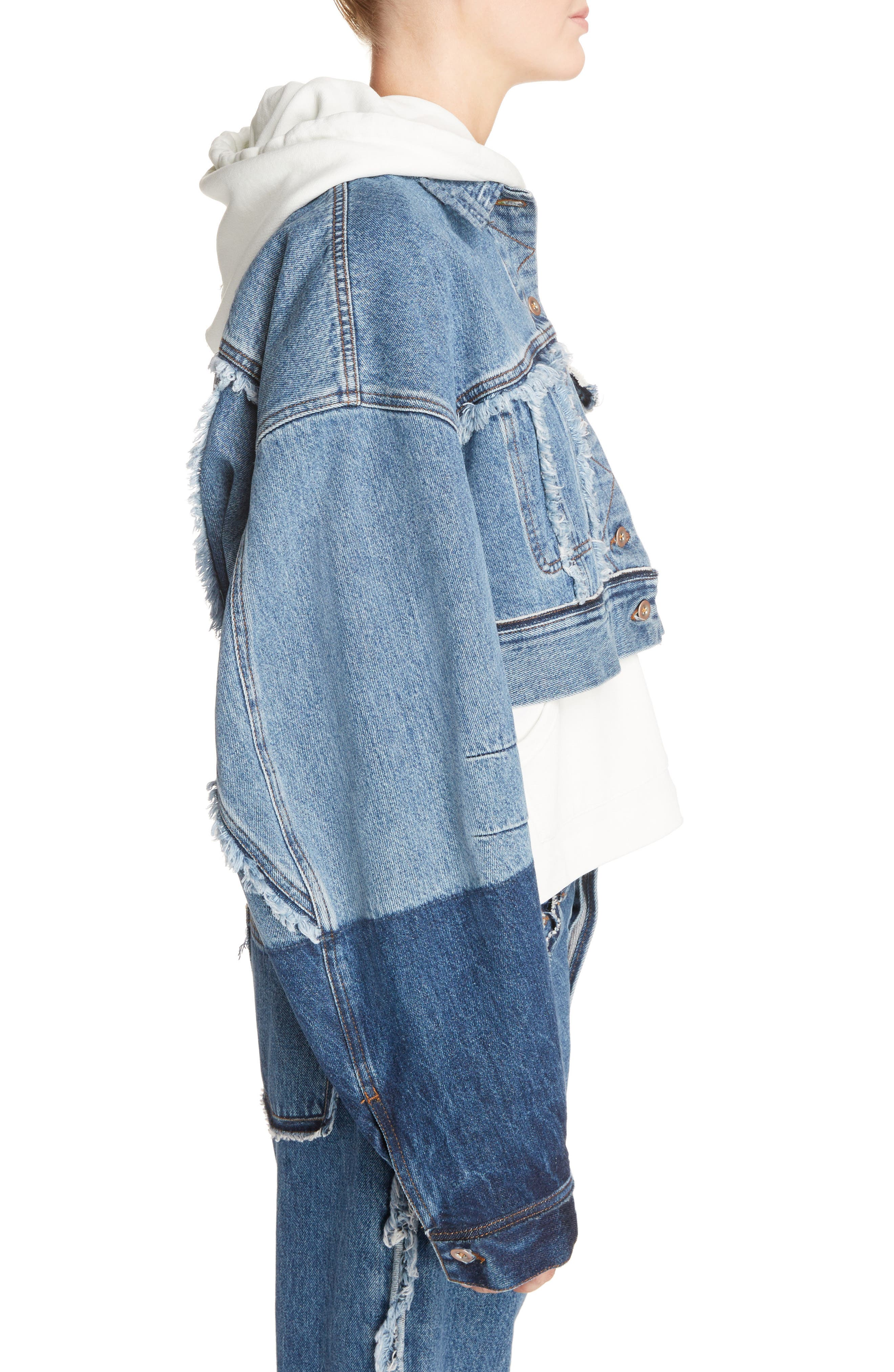 Alternate Image 4  - ACNE Studios Kremi Crop Denim Jacket