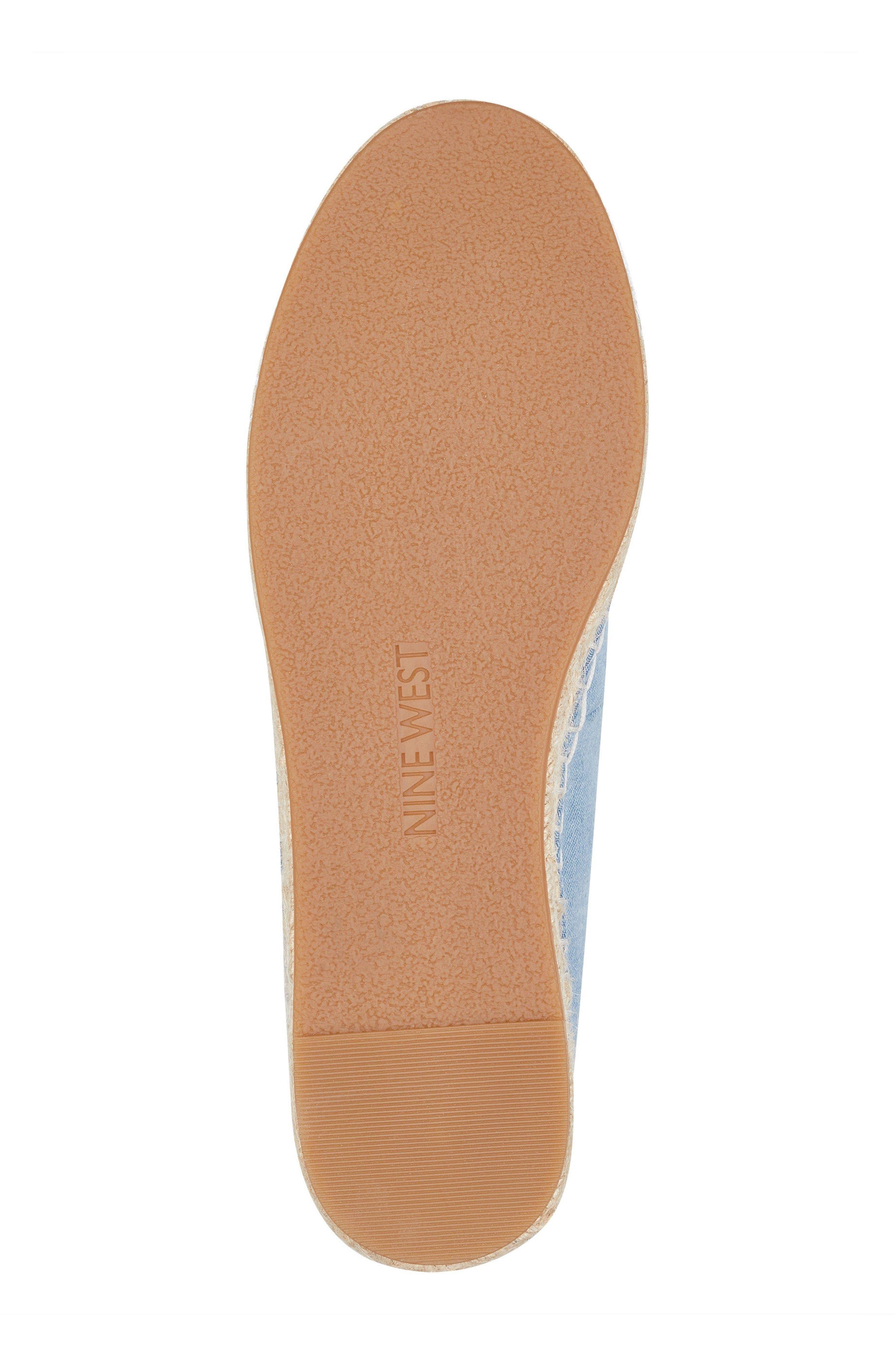 Guinup Embellished Espadrille Sneaker,                             Alternate thumbnail 6, color,                             Light Blue/ White Denim