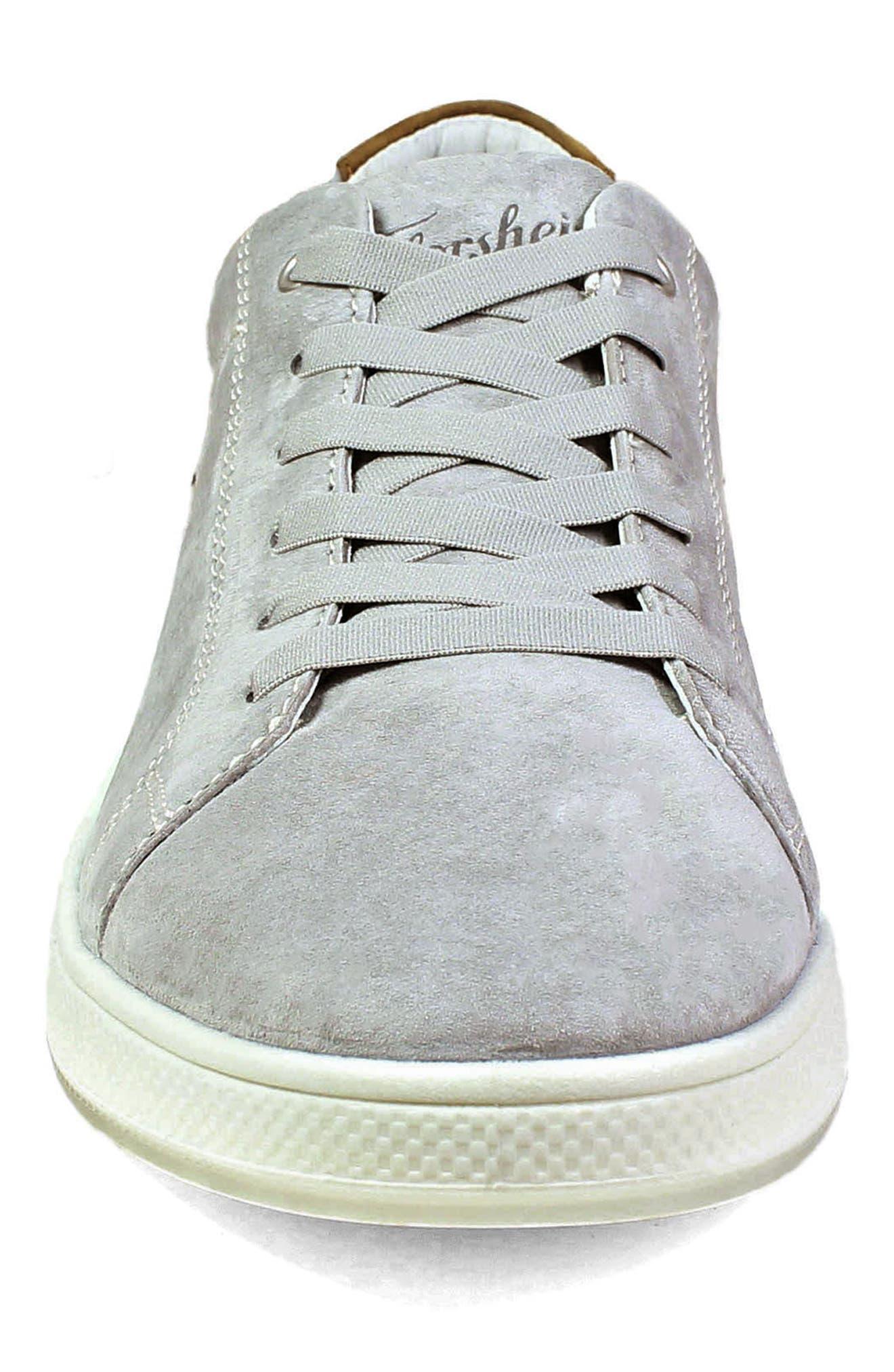 Edge Low Top Sneaker,                             Alternate thumbnail 4, color,                             Gray Nubuck