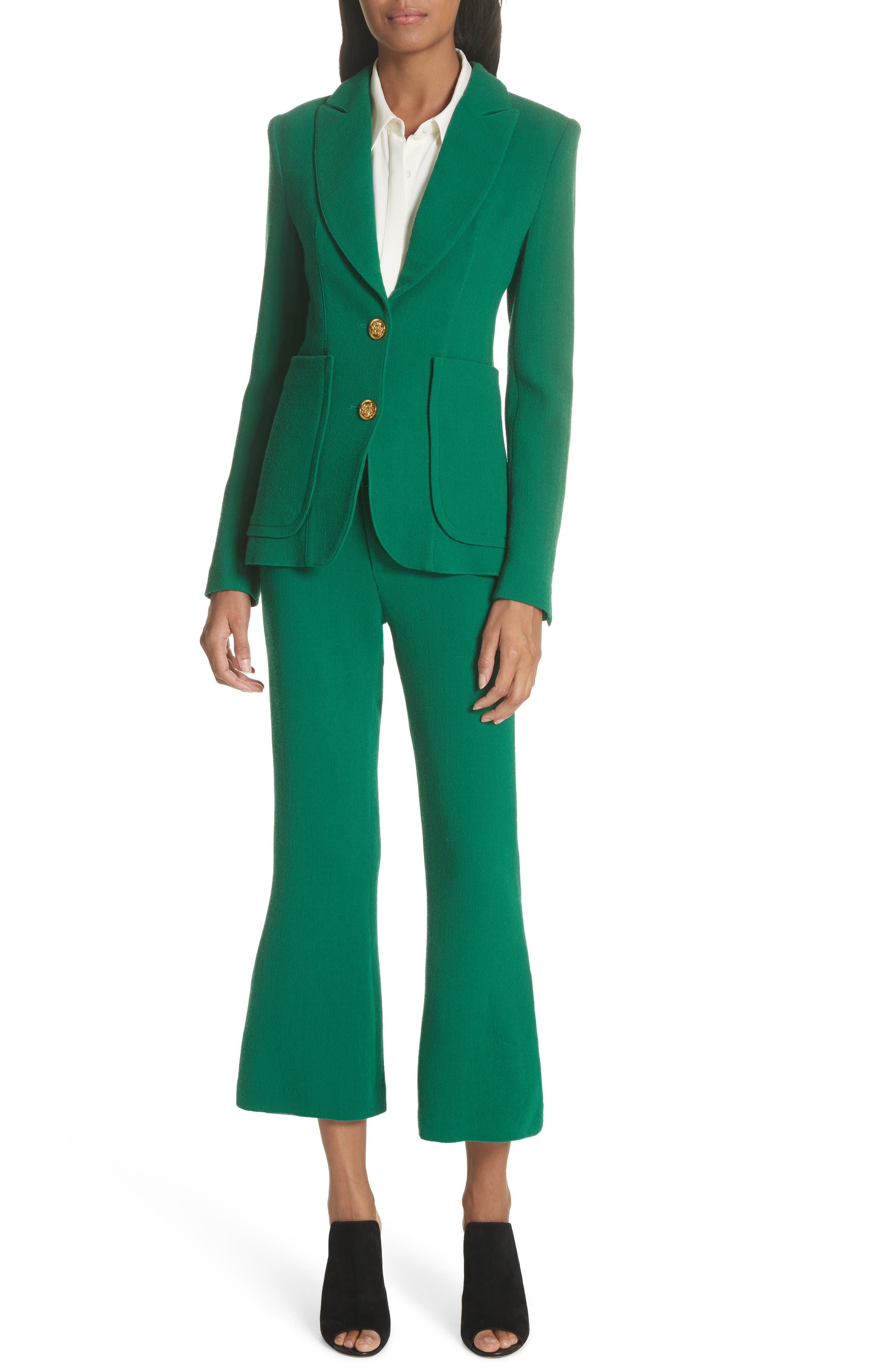 Wool Blazer,                             Alternate thumbnail 7, color,                             Kelly Green