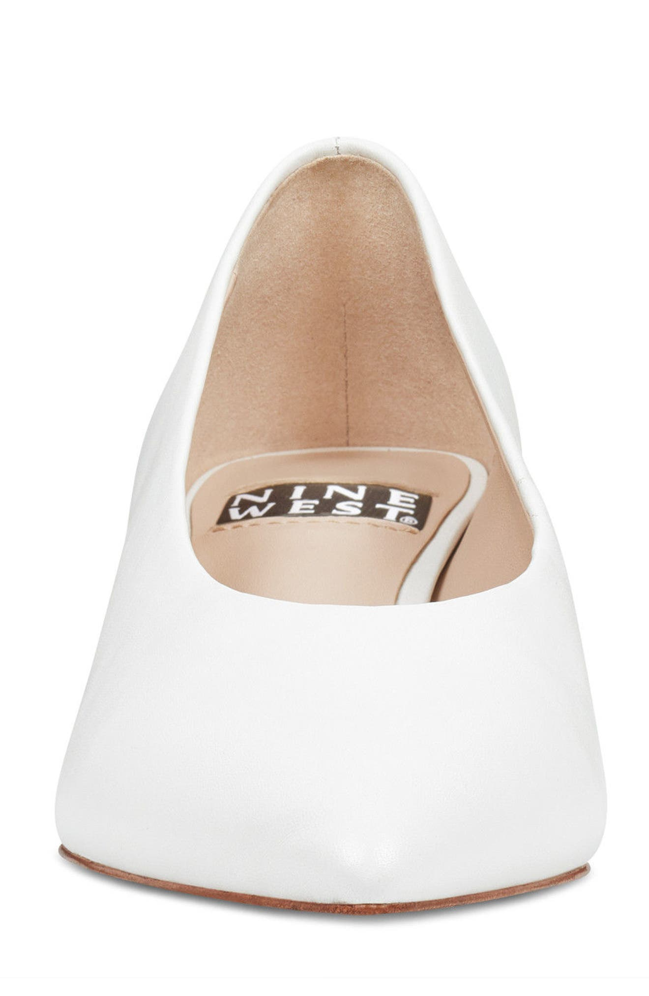 Kendra - 40th Anniversary Capsule Collection Pump,                             Alternate thumbnail 4, color,                             White Leather