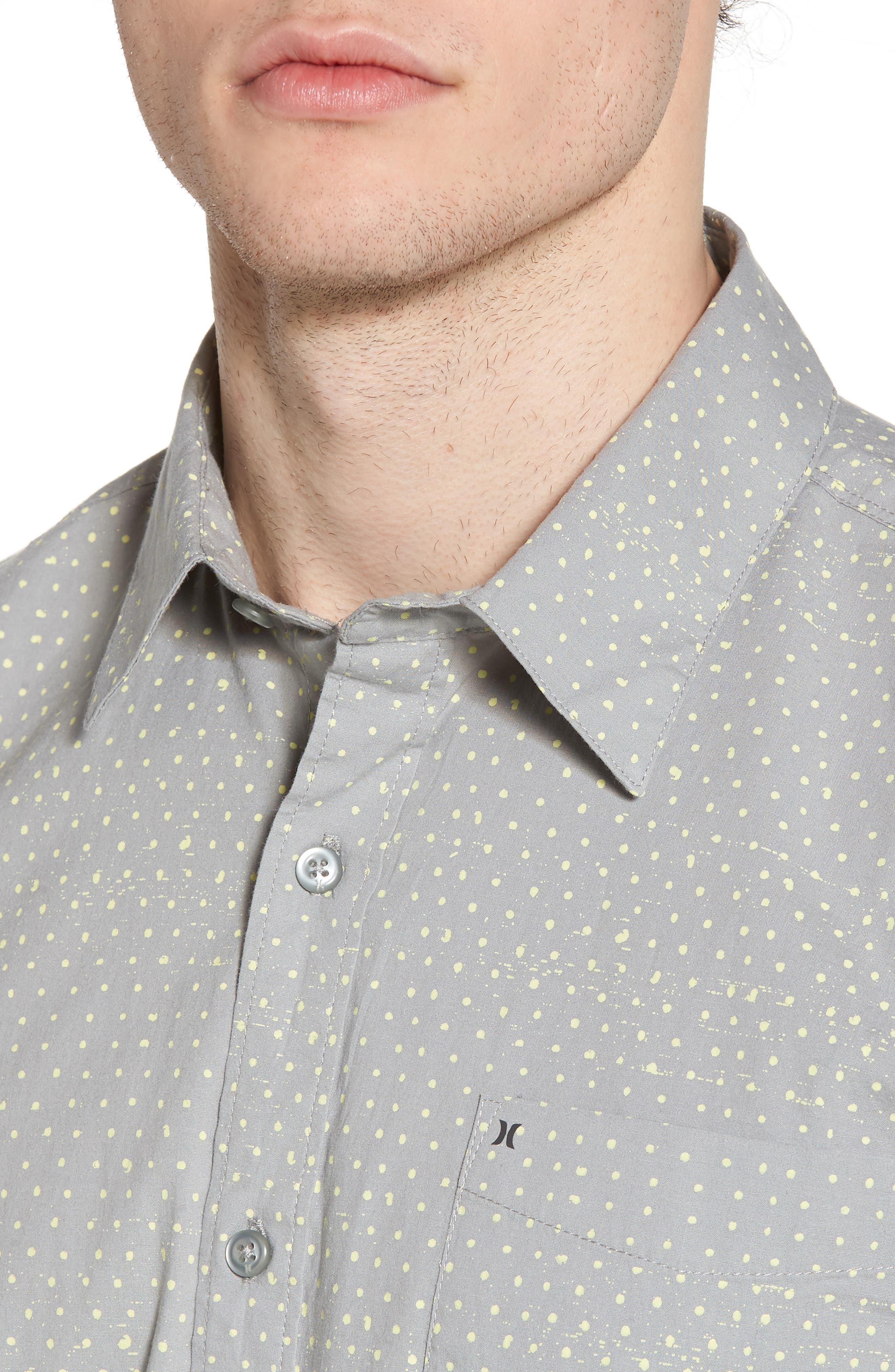 Jones Dot Woven Shirt,                             Alternate thumbnail 4, color,                             Light Pumice