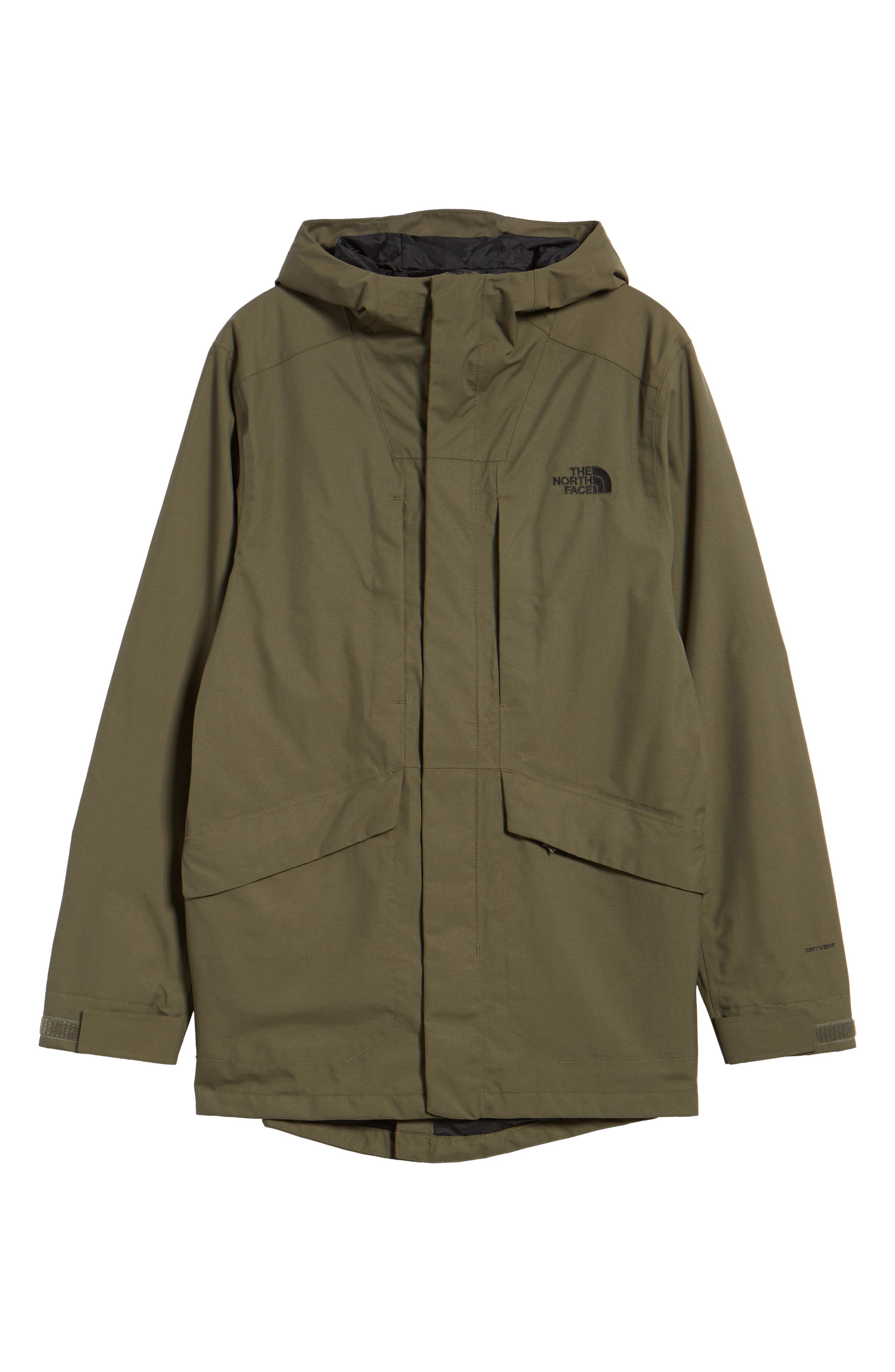 El Misti Trench II Hooded Jacket,                             Alternate thumbnail 6, color,                             New Taupe Green