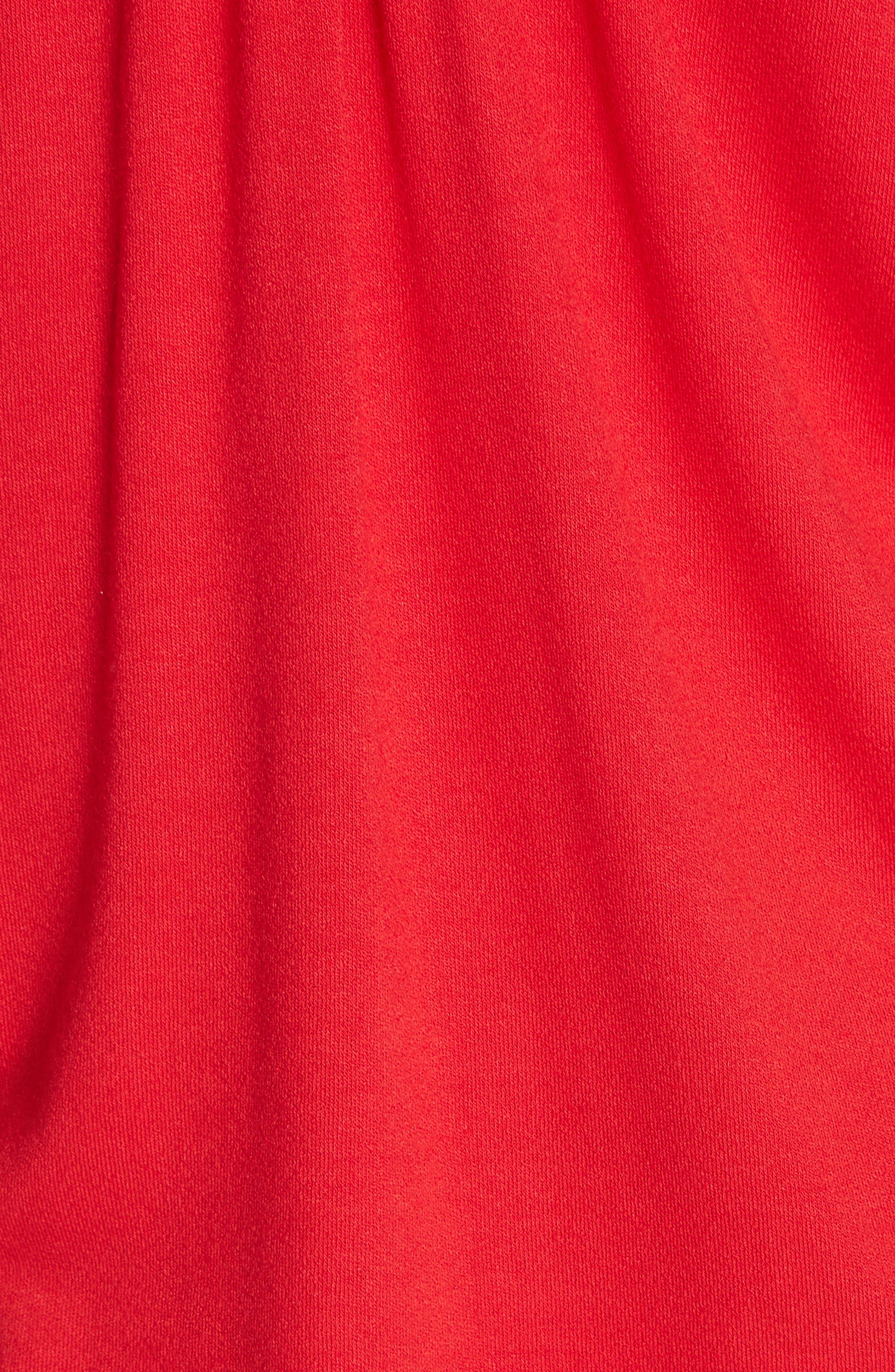 Believe Me Cold Shoulder Top,                             Alternate thumbnail 5, color,                             Red
