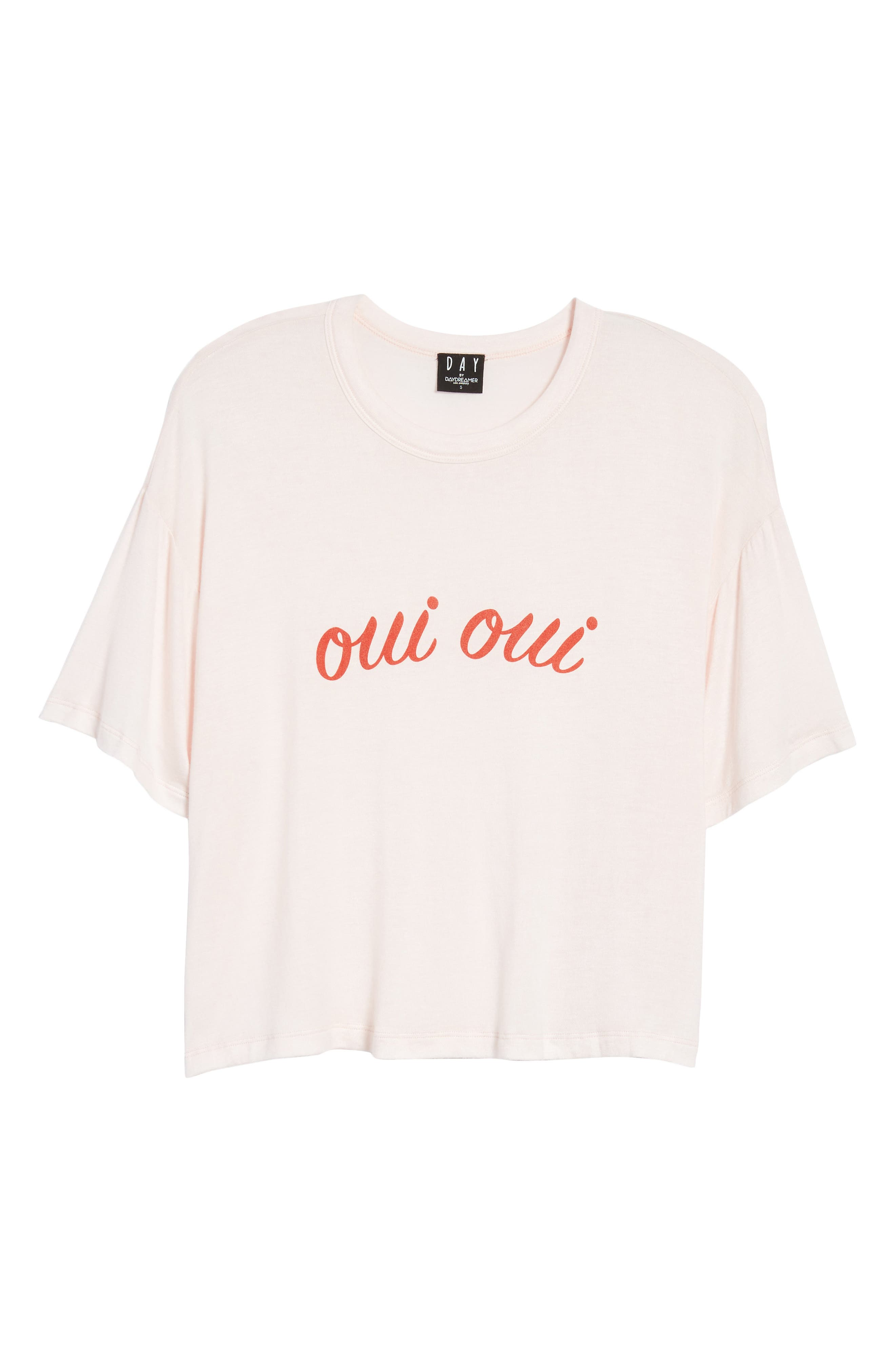 Oui Oui Graphic Tee,                             Alternate thumbnail 6, color,                             Light Pink