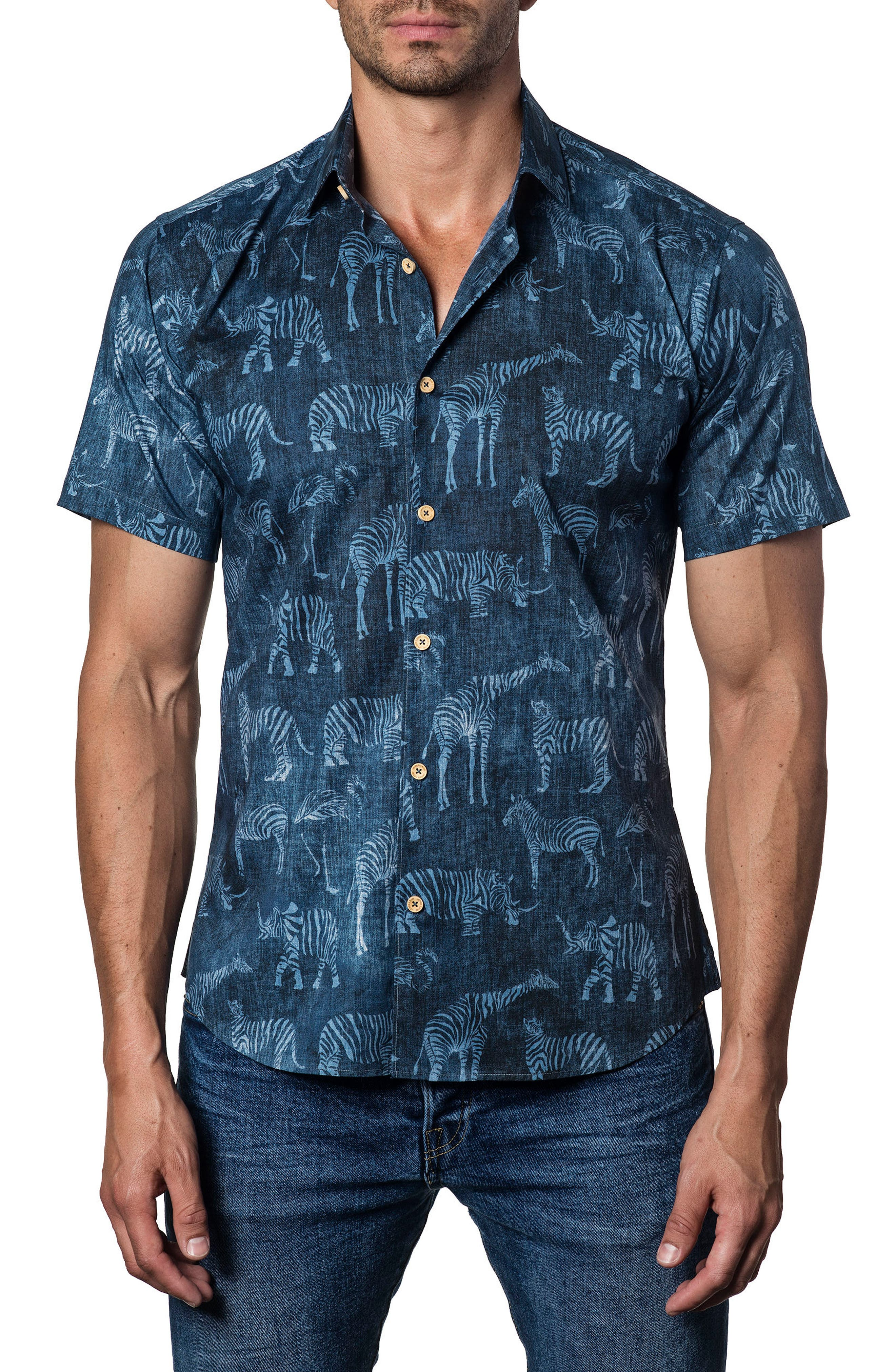 Jarad Lang Button Down Shirt,                             Main thumbnail 1, color,                             Blue