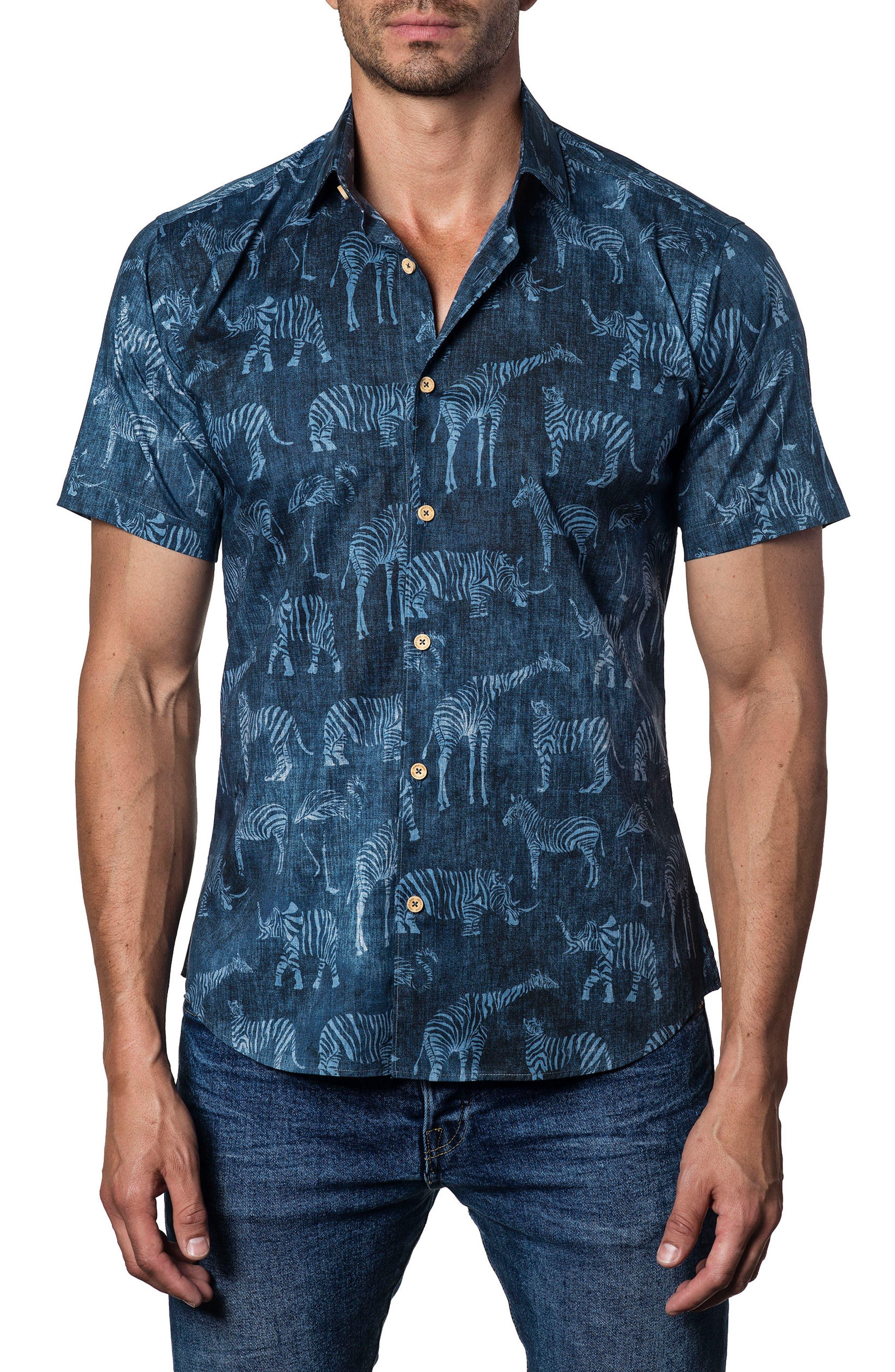 Jarad Lang Button Down Shirt,                         Main,                         color, Blue