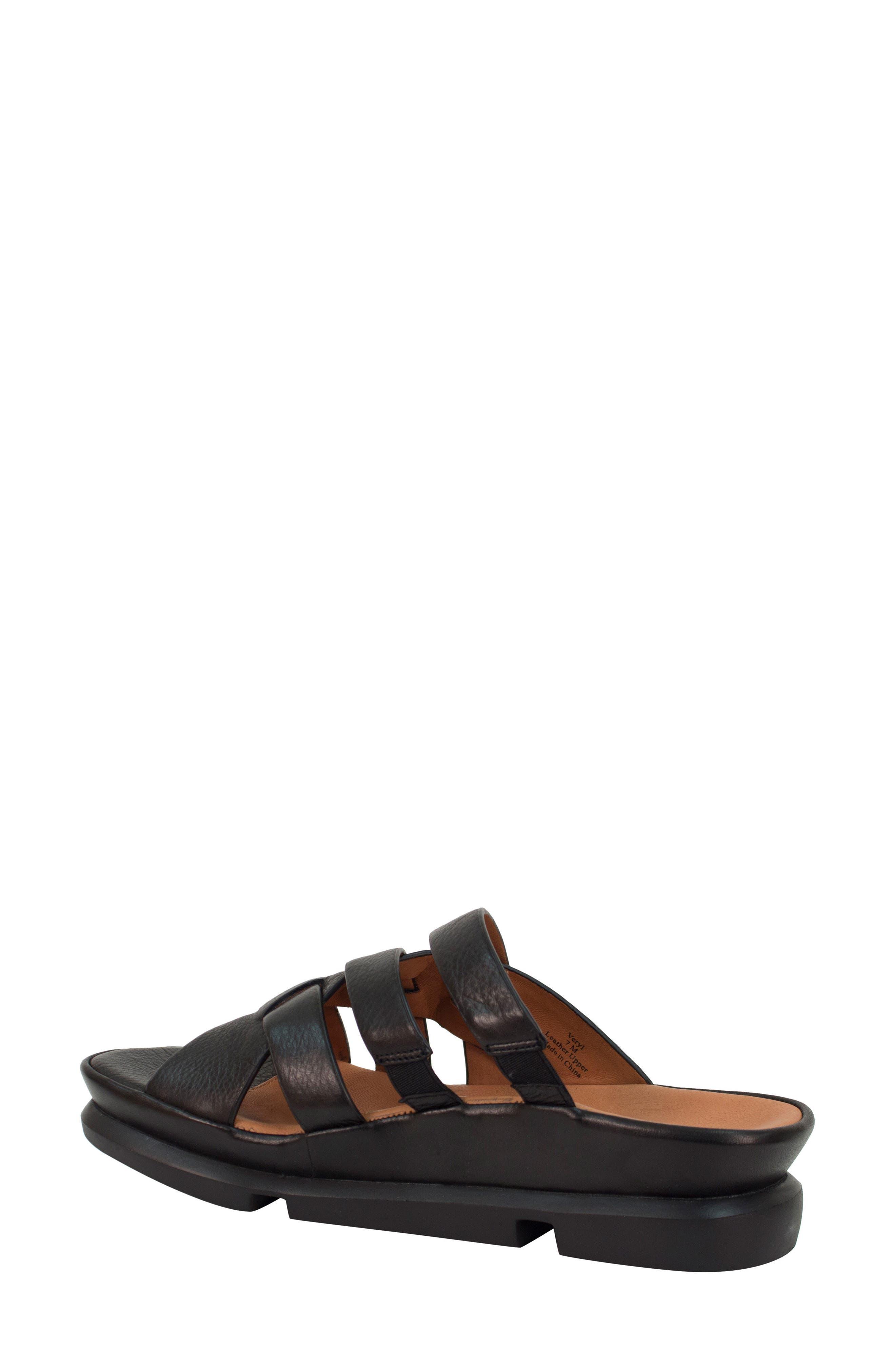 Veryl Sandal,                             Alternate thumbnail 2, color,                             Black Leather