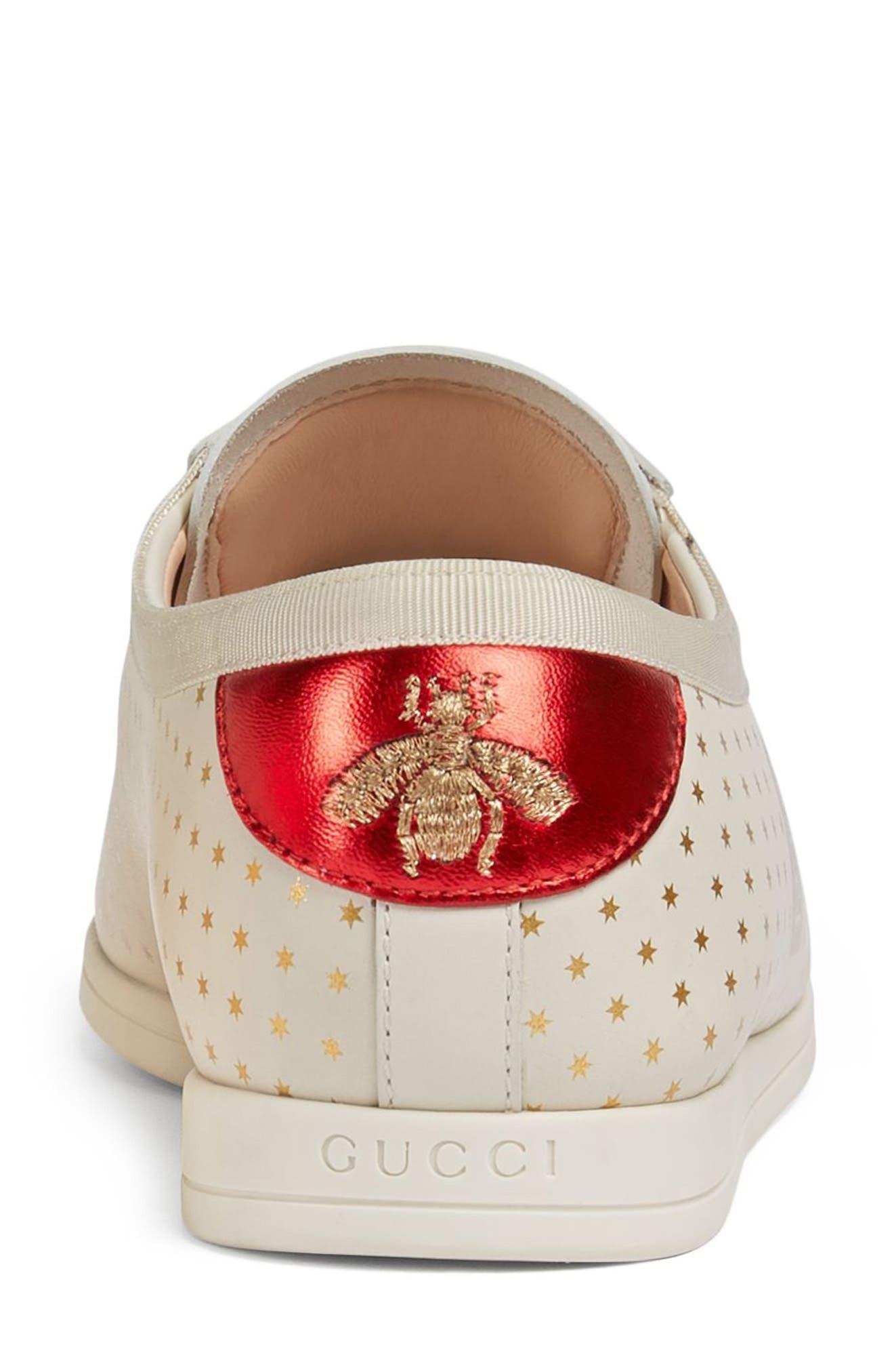 Falacer Guccy Logo Sneaker,                             Alternate thumbnail 5, color,                             White