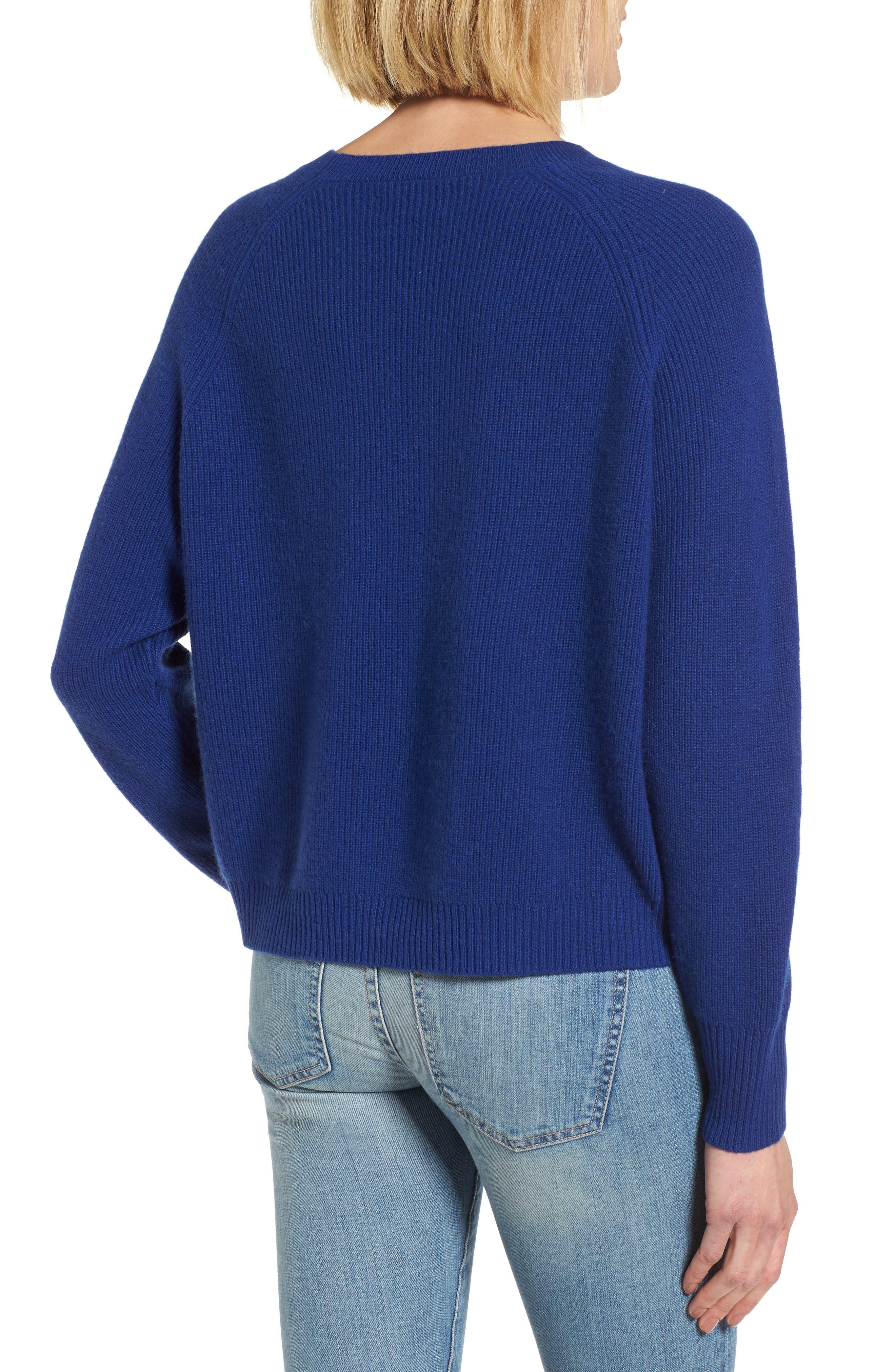Cashmere Sweater,                             Alternate thumbnail 2, color,                             Coblt Blue