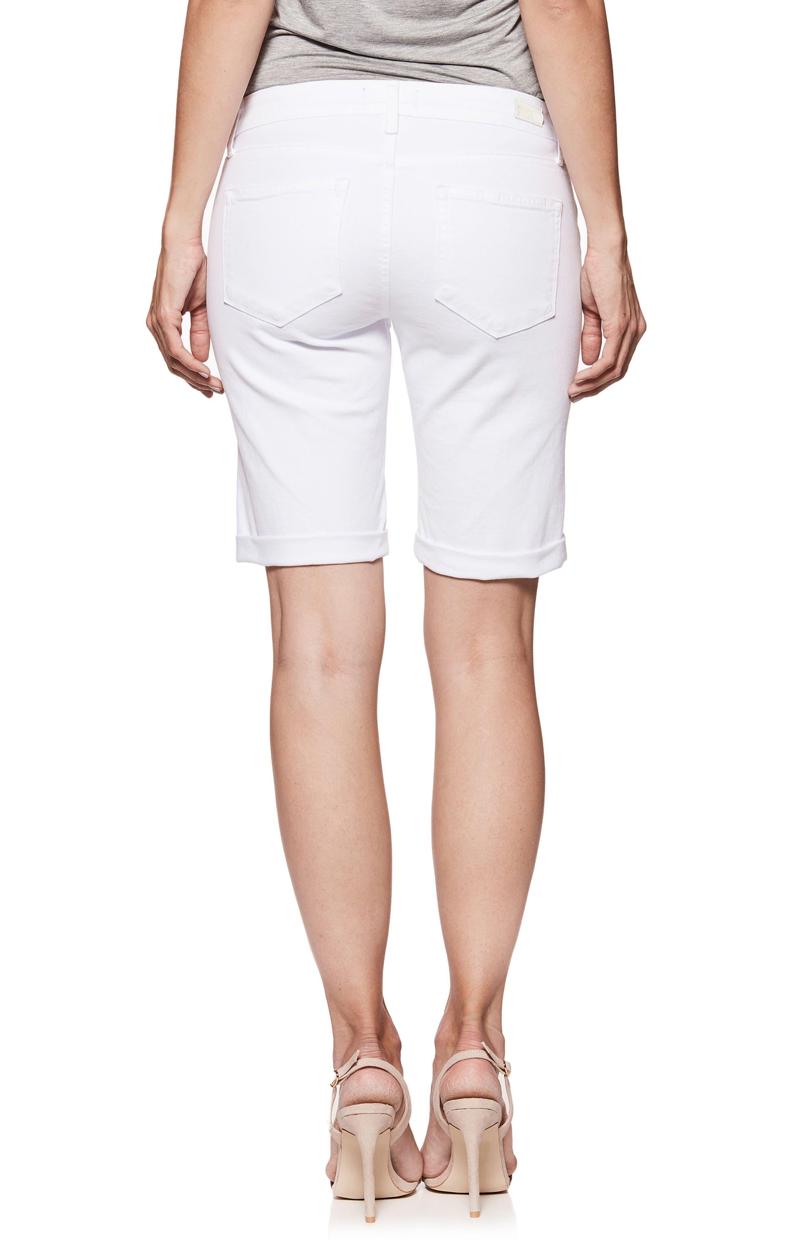 Jax Denim Bermuda Shorts,                             Alternate thumbnail 3, color,                             Crisp White