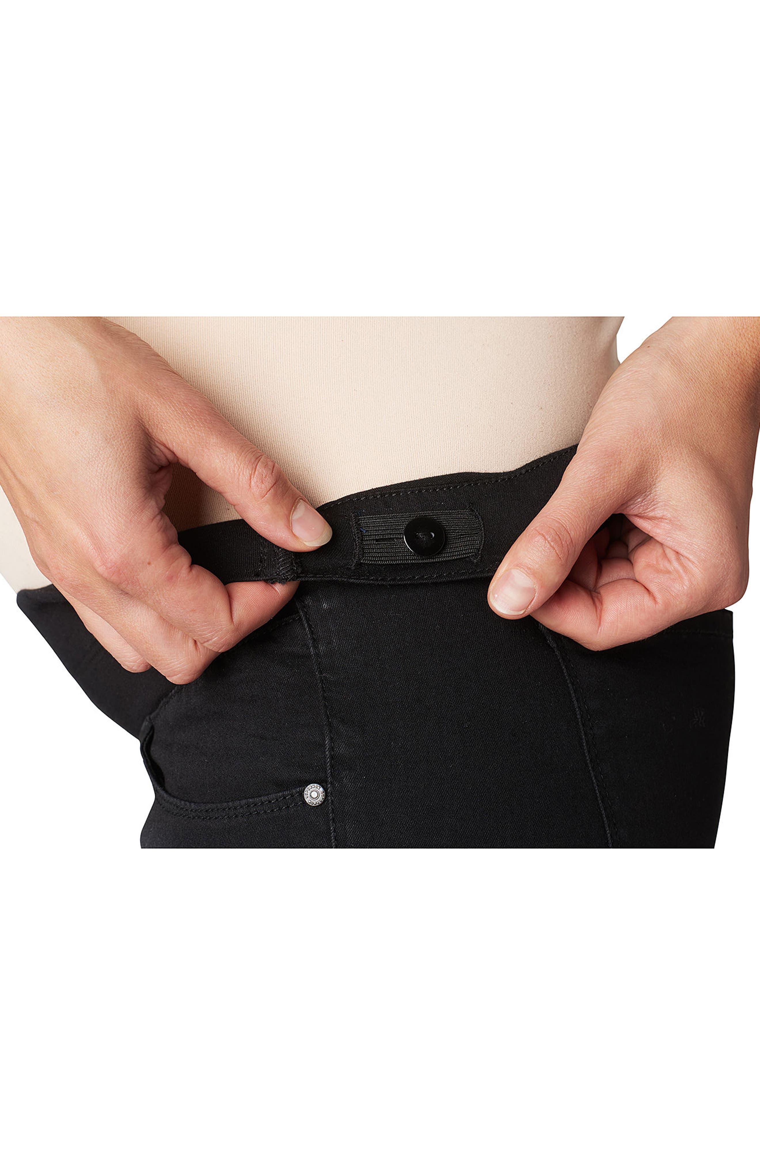 Under the Belly Skinny Maternity Jeans,                             Alternate thumbnail 3, color,                             Black Denim