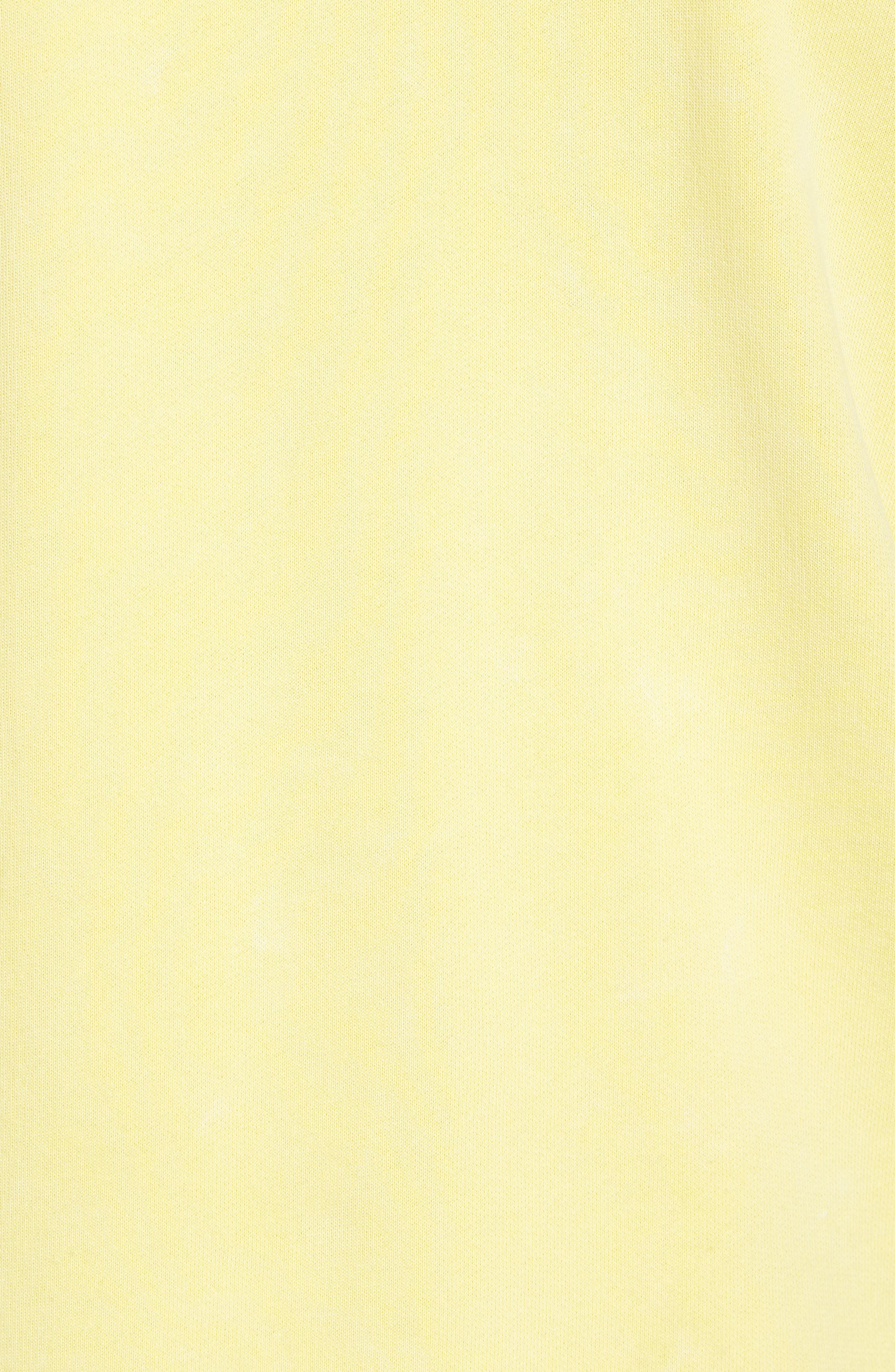 Faded Pigment Dyed Hoodie Sweatshirt,                             Alternate thumbnail 5, color,                             Yellow