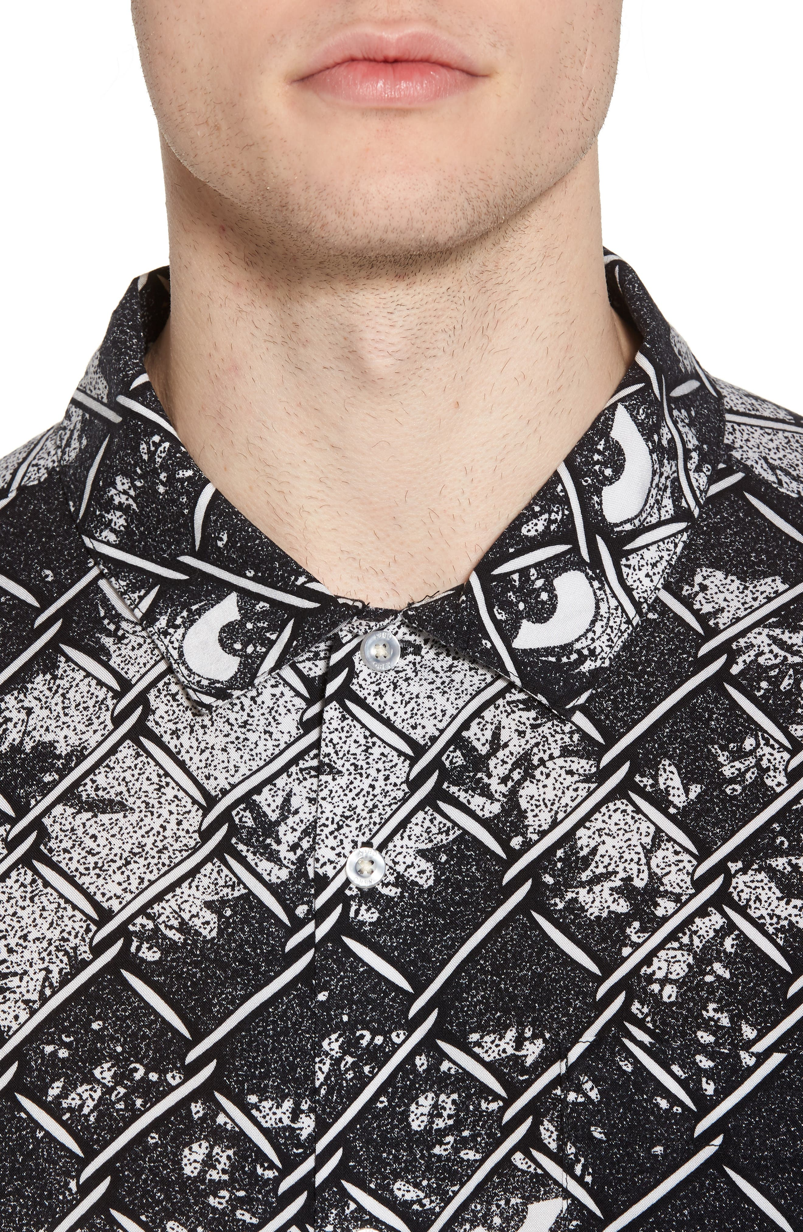 Gatekeeper Short Sleeve Shirt,                             Alternate thumbnail 4, color,                             Black Multi