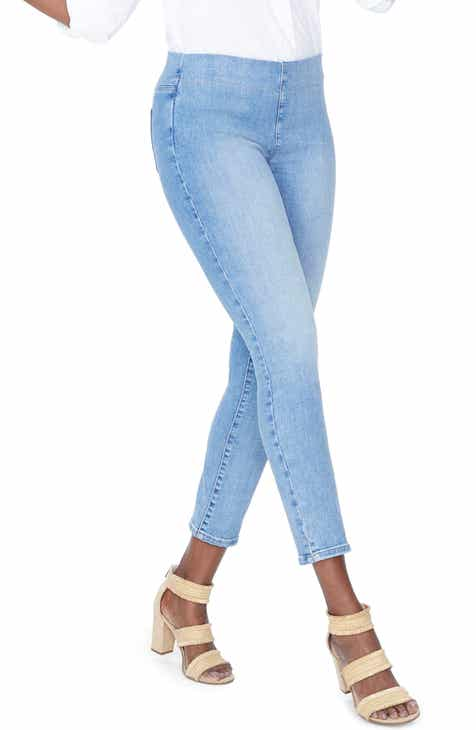 Topshop High Waist Raw Hem Straight Leg Jeans by TOPSHOP
