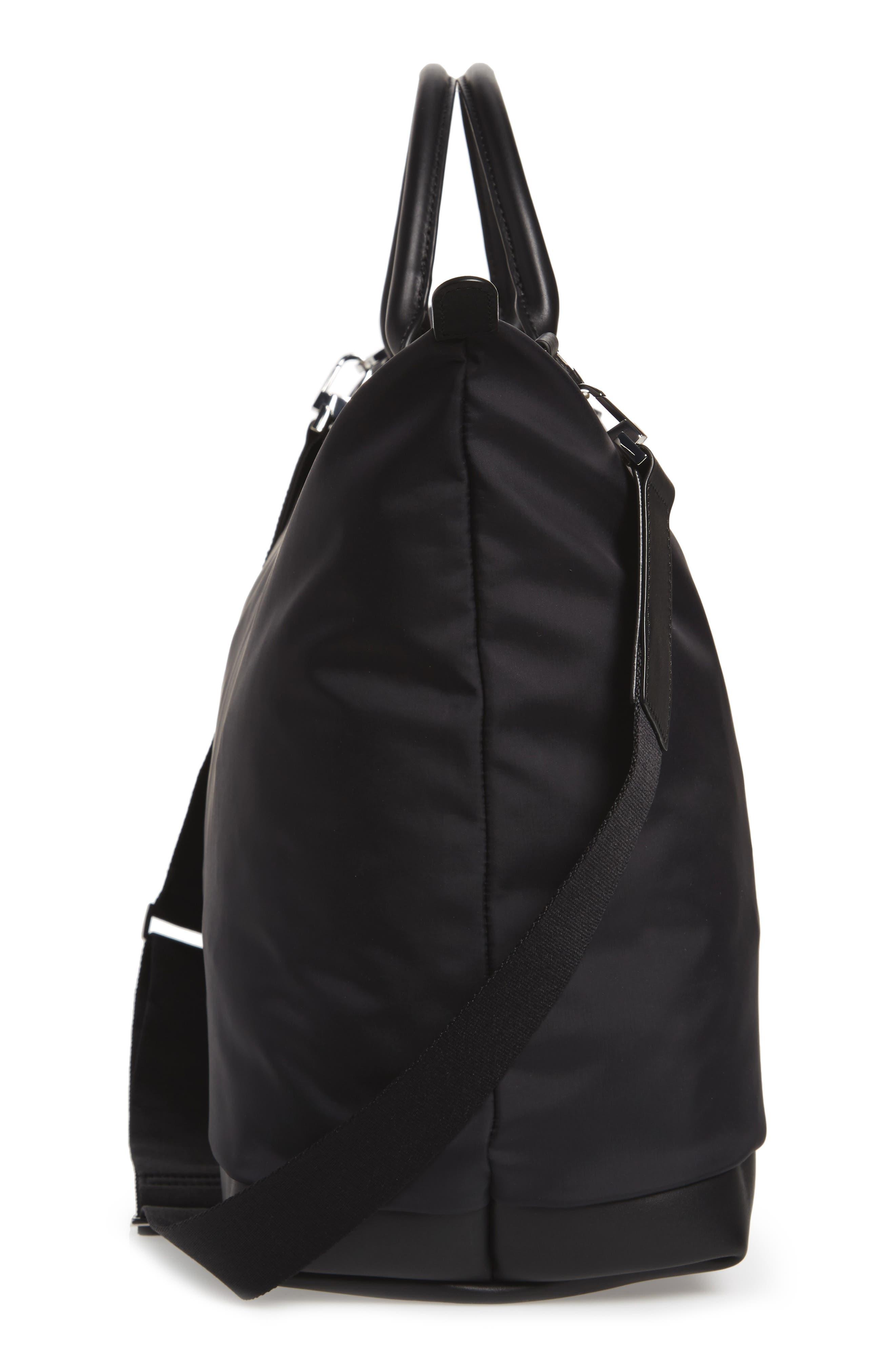 Hartsfield Nylon Tote Bag,                             Alternate thumbnail 5, color,                             Black Nylon