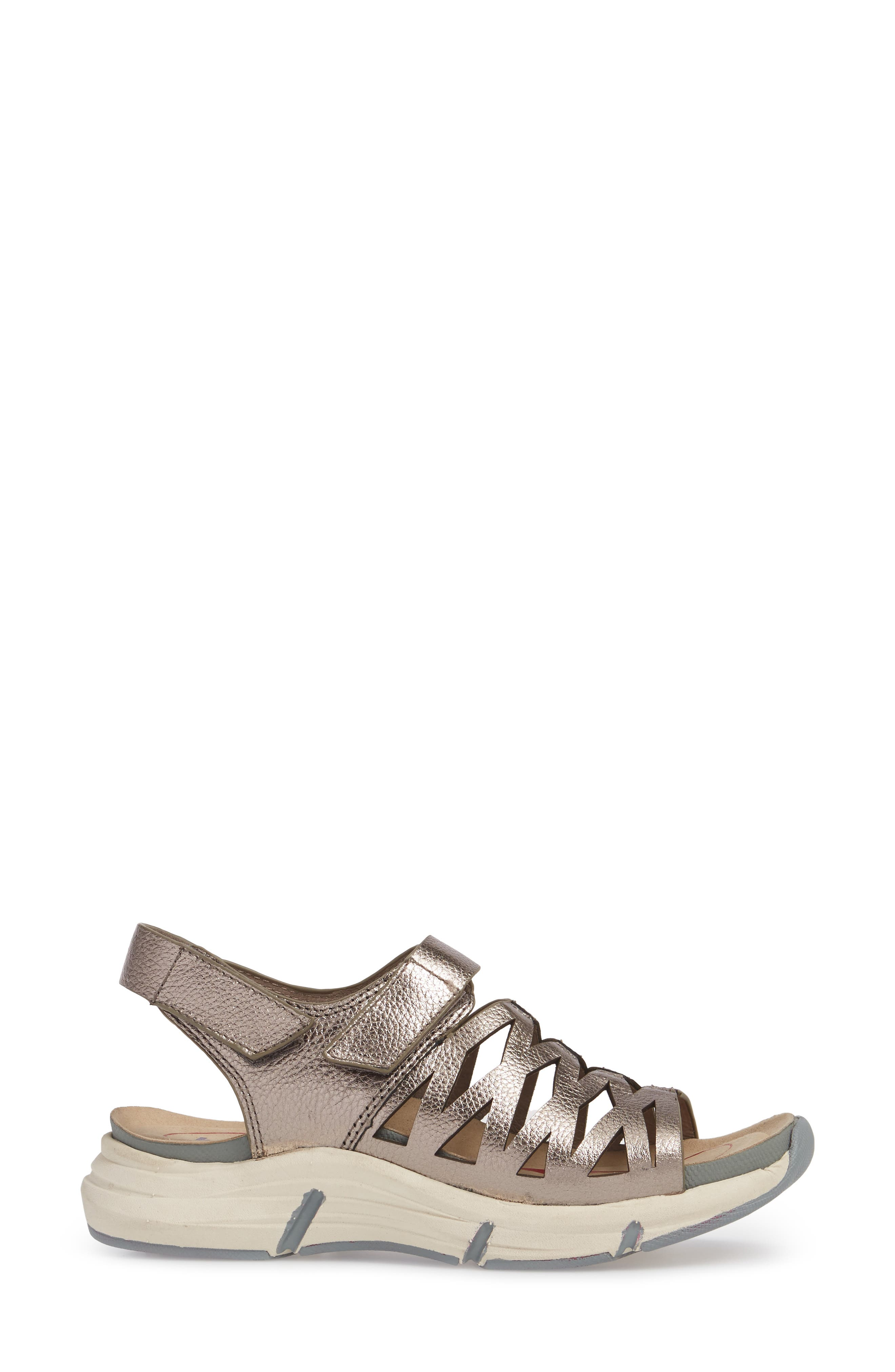 Ossipee Sandal,                             Alternate thumbnail 3, color,                             Anthracite Leather