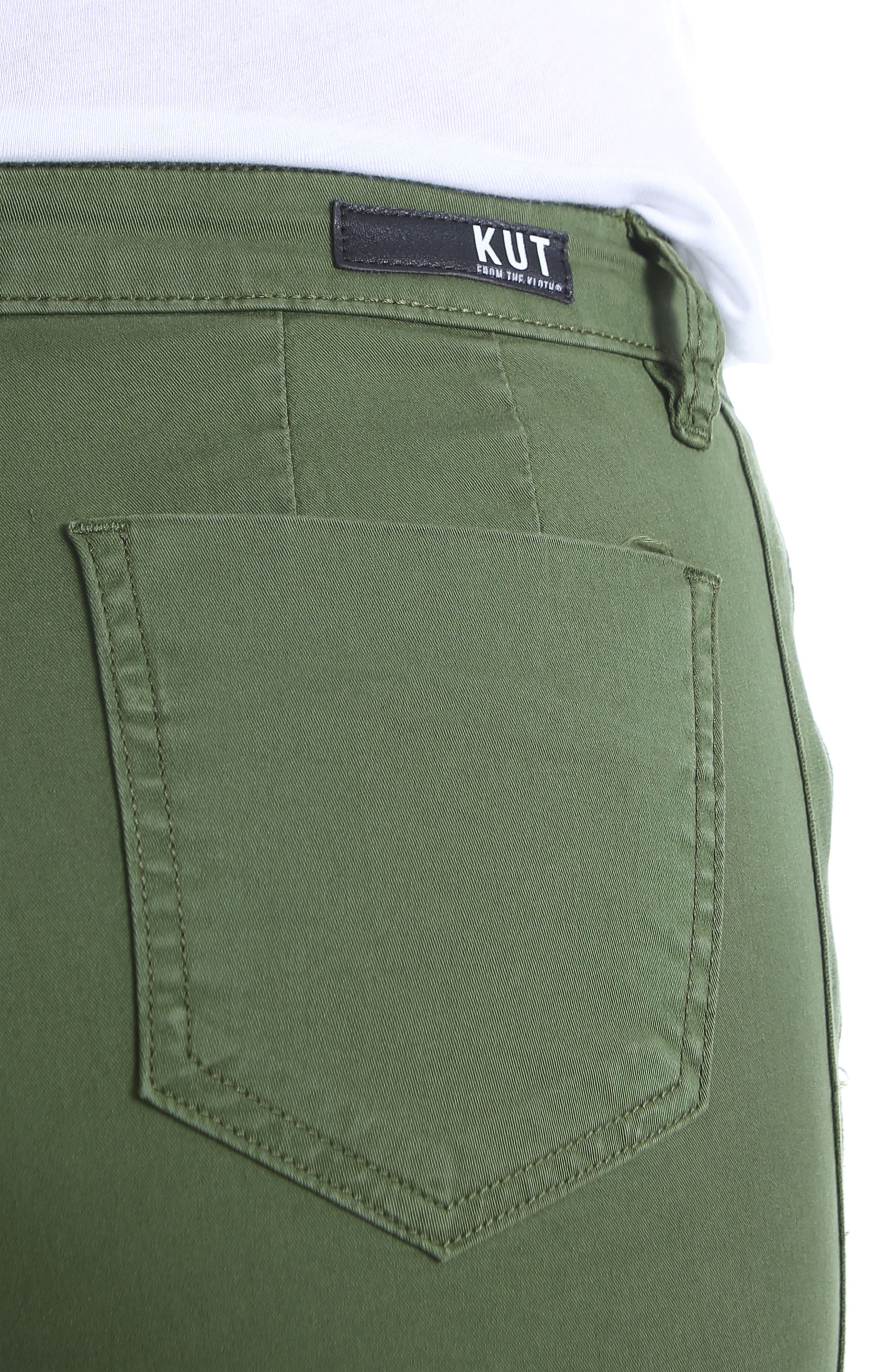Alternate Image 4  - KUT from the Kloth Stretch Cotton Roll Up Shorts
