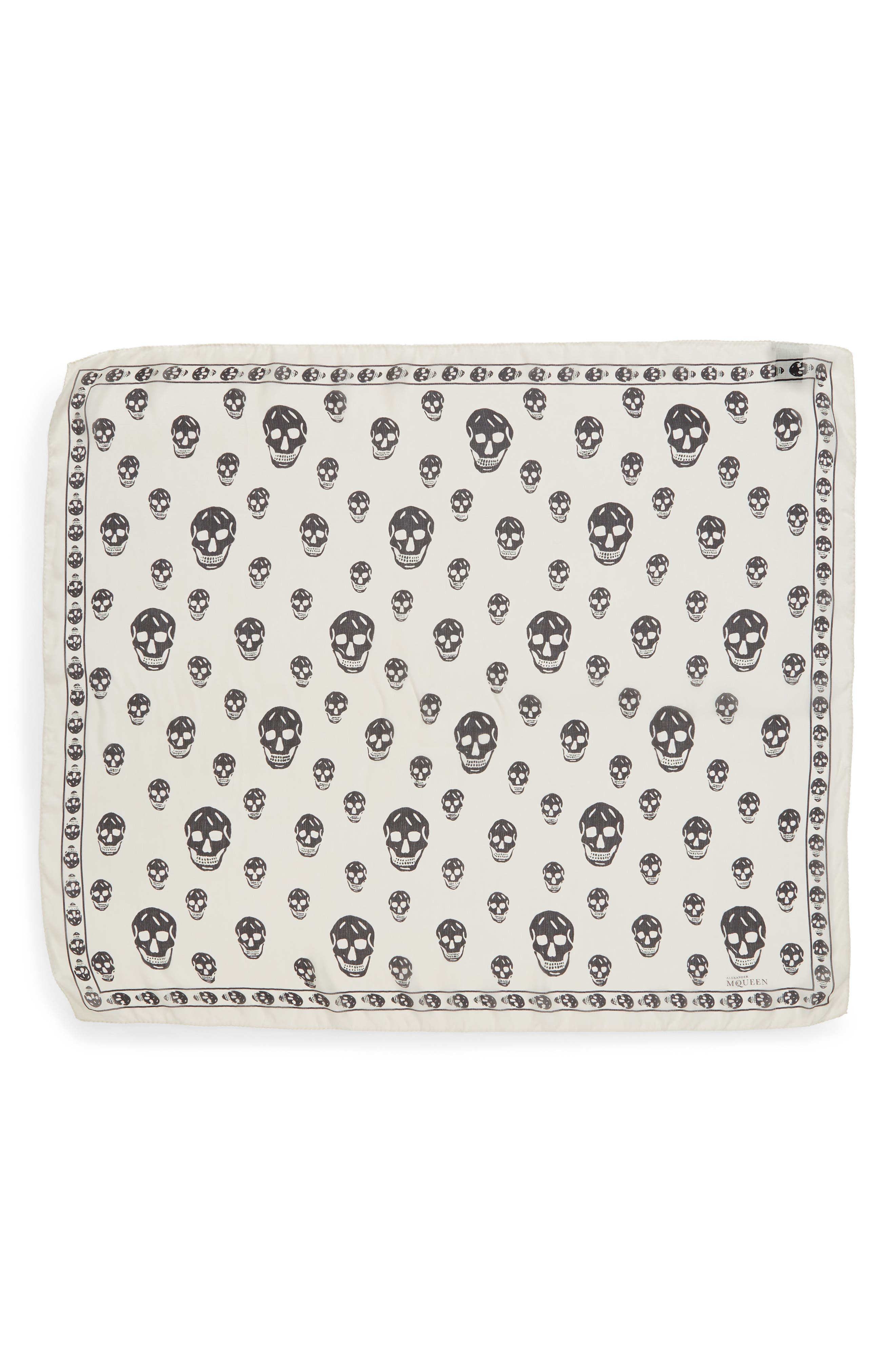 Alternate Image 1 Selected - Alexander McQueen 'Skull' Chiffon Scarf