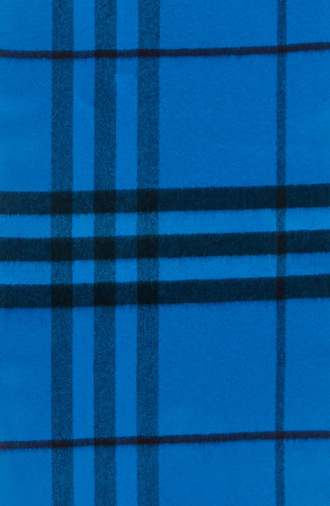 Overdyed Giant Check Cashmere Scarf,                             Alternate thumbnail 4, color,                             Bright Blue