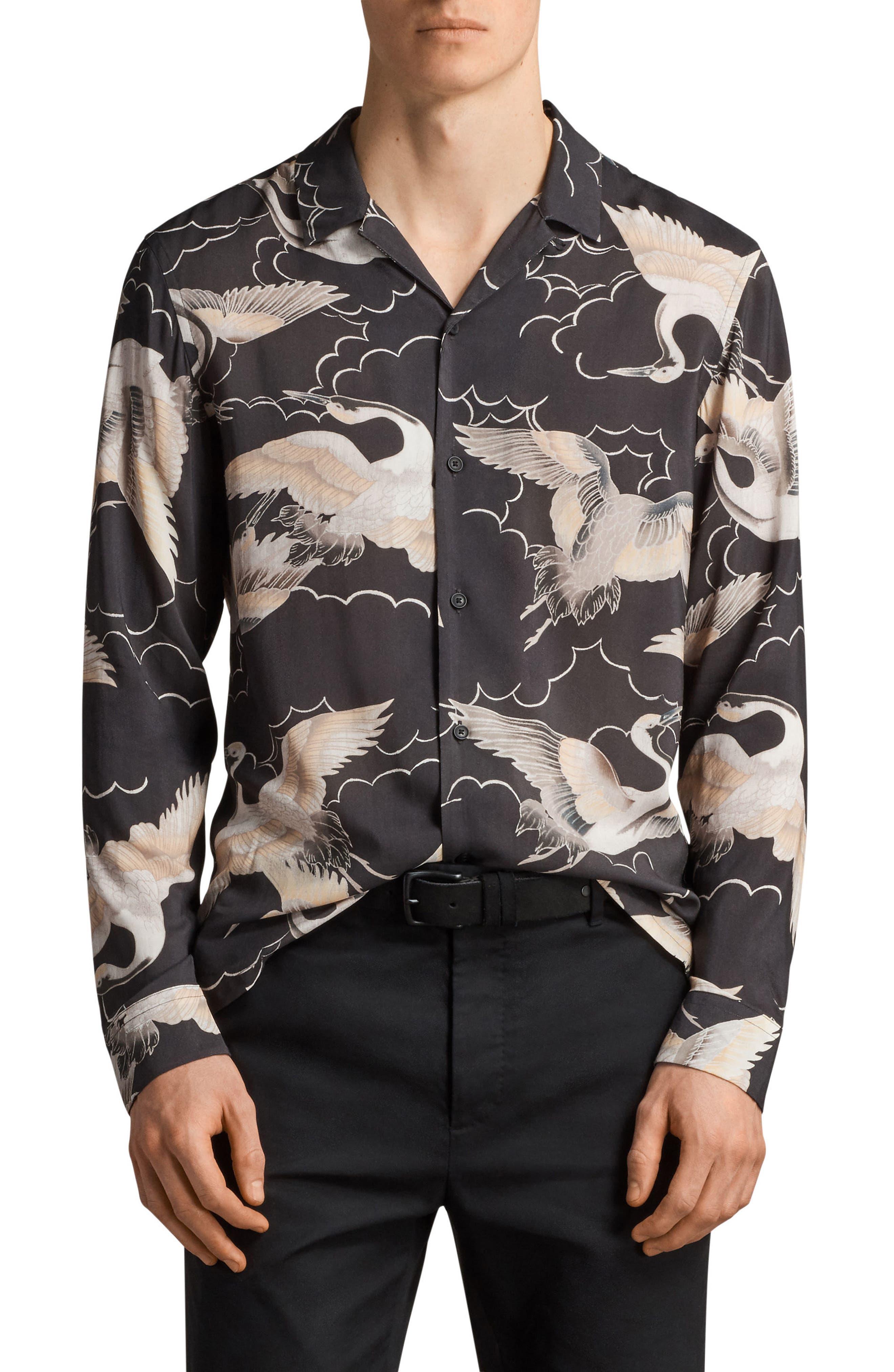 ALLSAINTS Romanji Slim Fit Sport Shirt