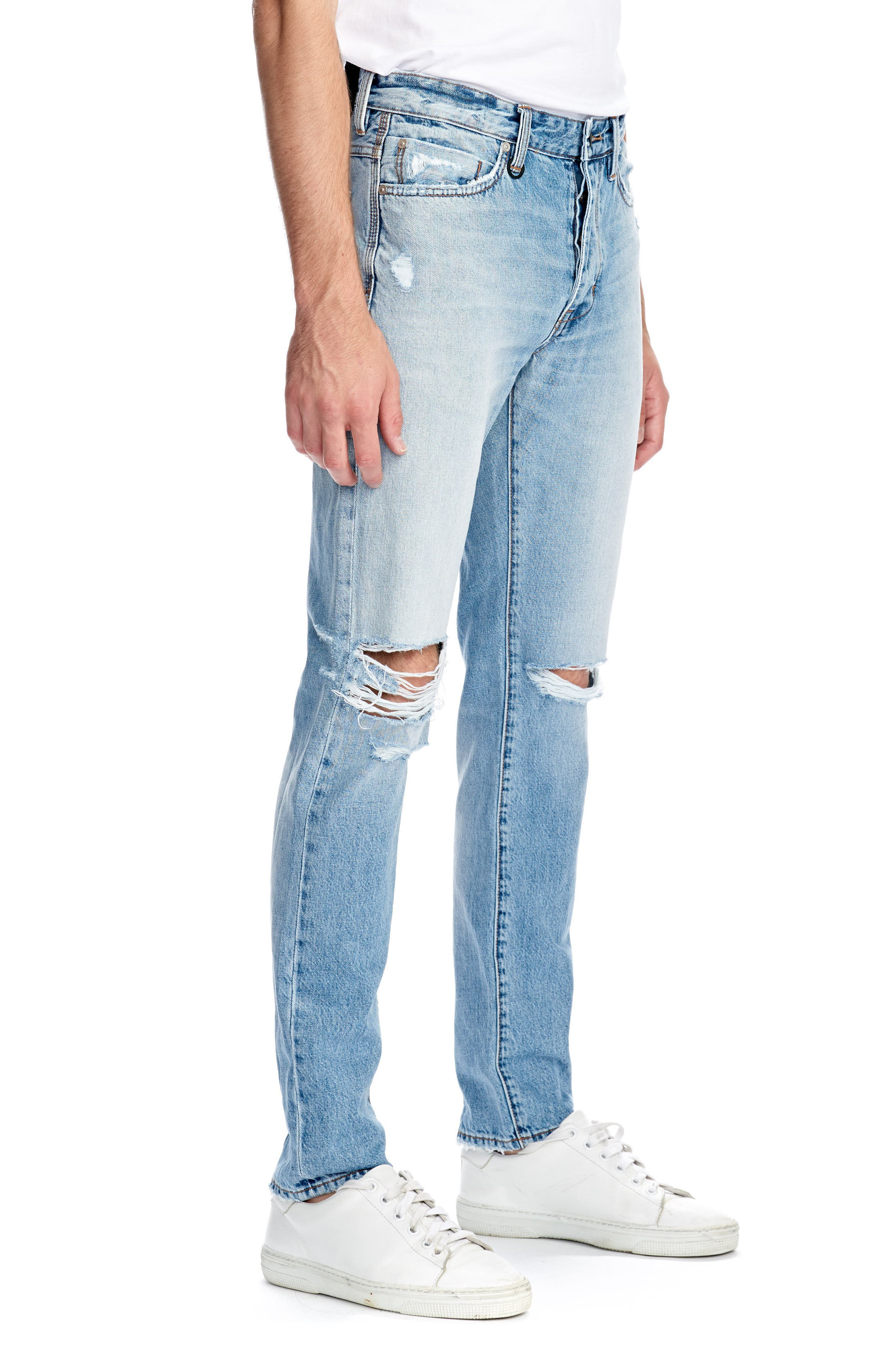 NEWU Lou Slim Fit Jeans,                             Alternate thumbnail 3, color,                             Stockholm Broken