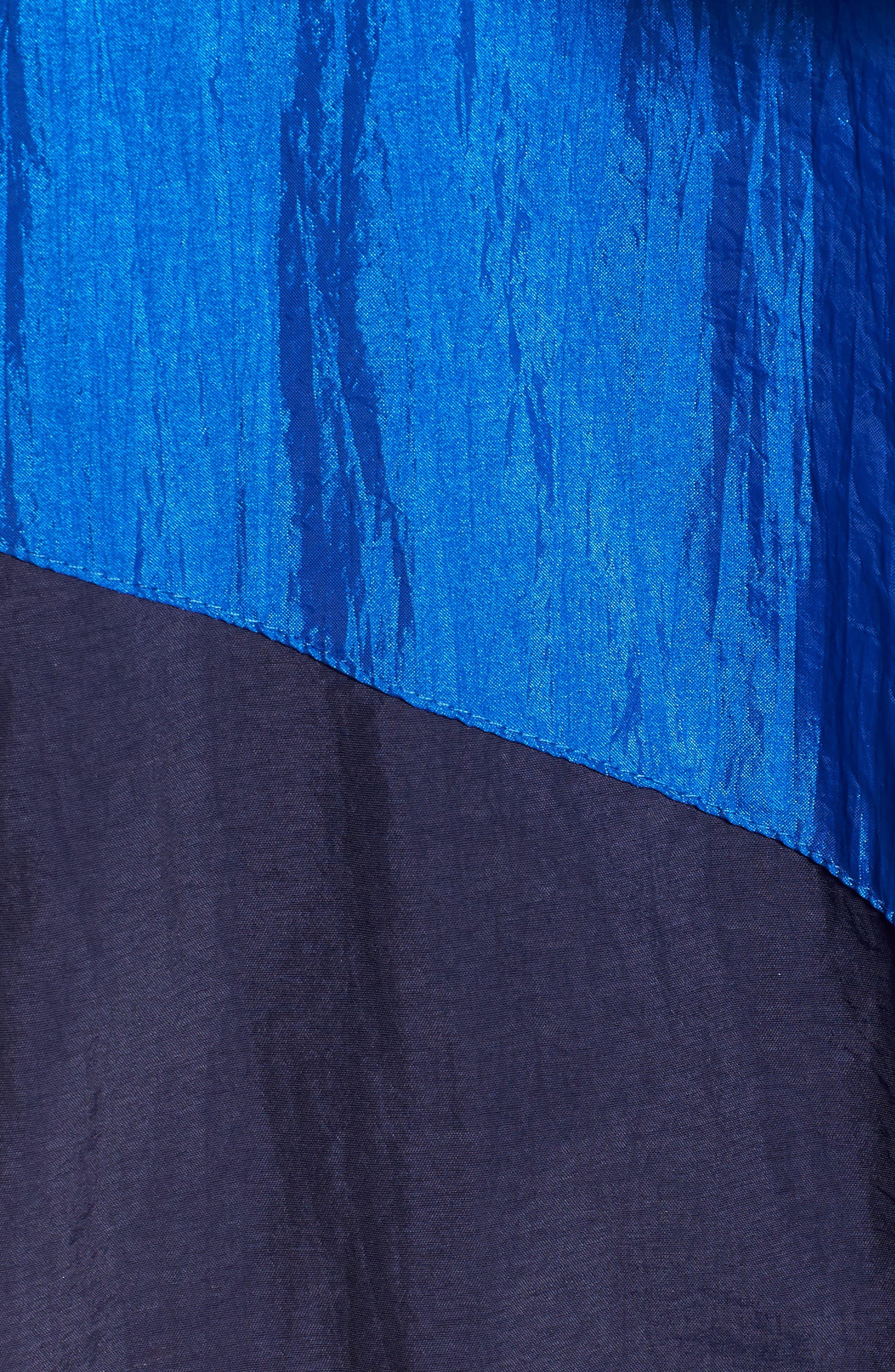 Colorblock Windbreaker Jacket,                             Alternate thumbnail 5, color,                             Green/ Blue