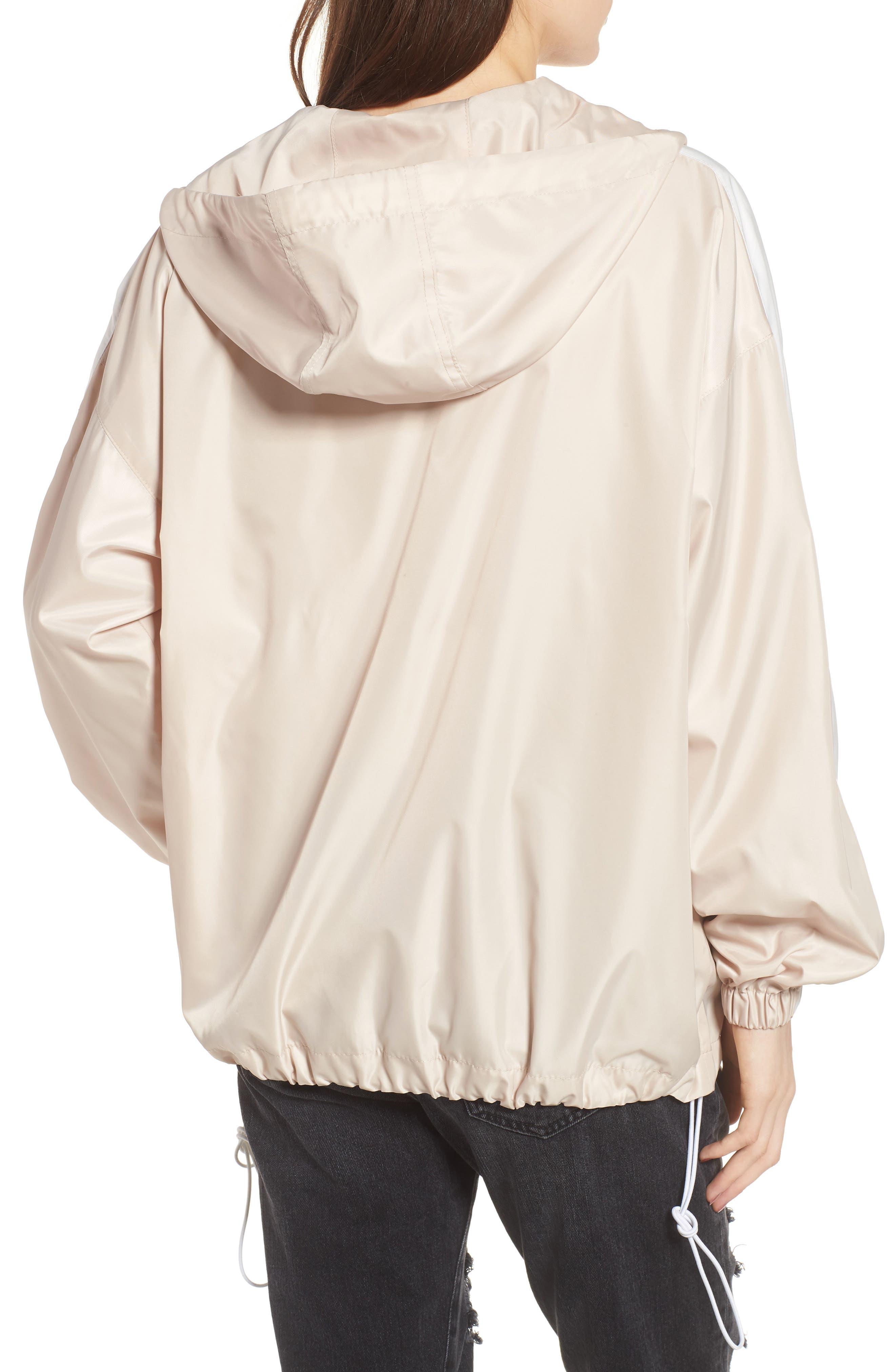 Stripe Hooded Jacket,                             Alternate thumbnail 2, color,                             Blush