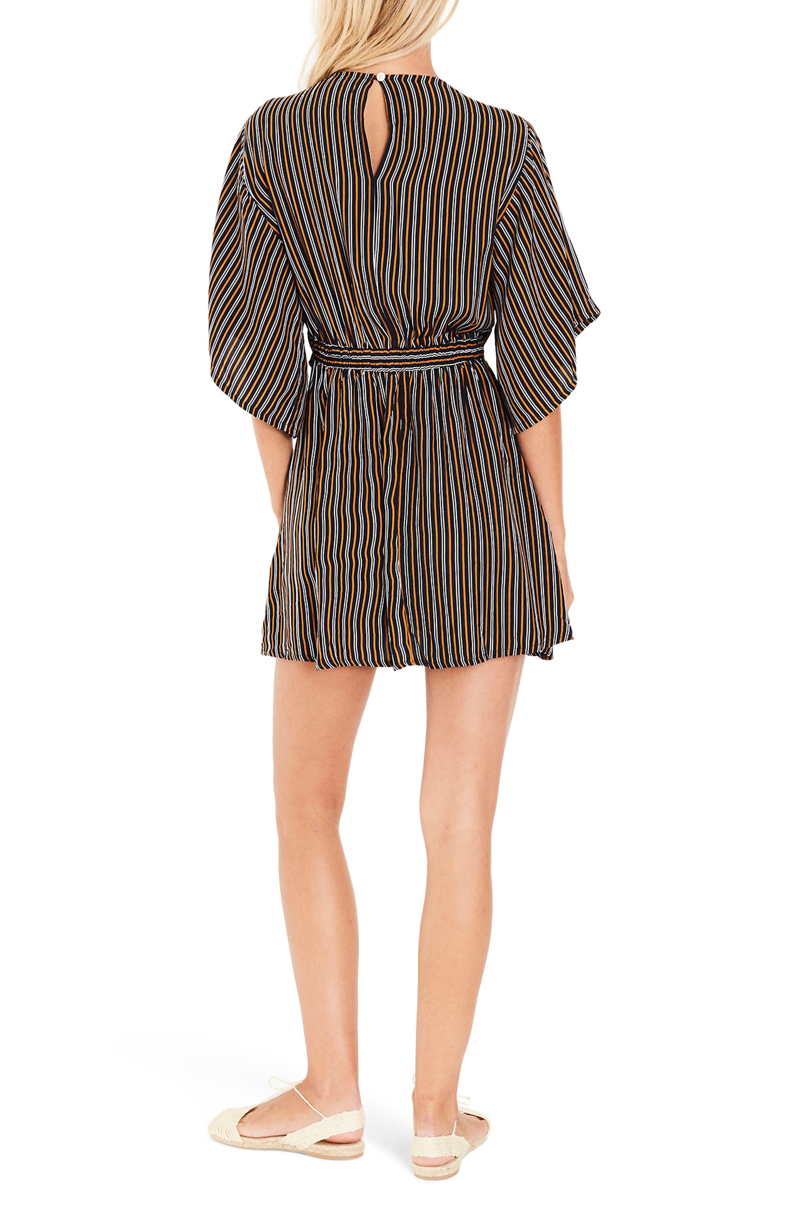 Vinci Stripe Tie Front Dress,                             Alternate thumbnail 3, color,                             Glasgow Stripe Print