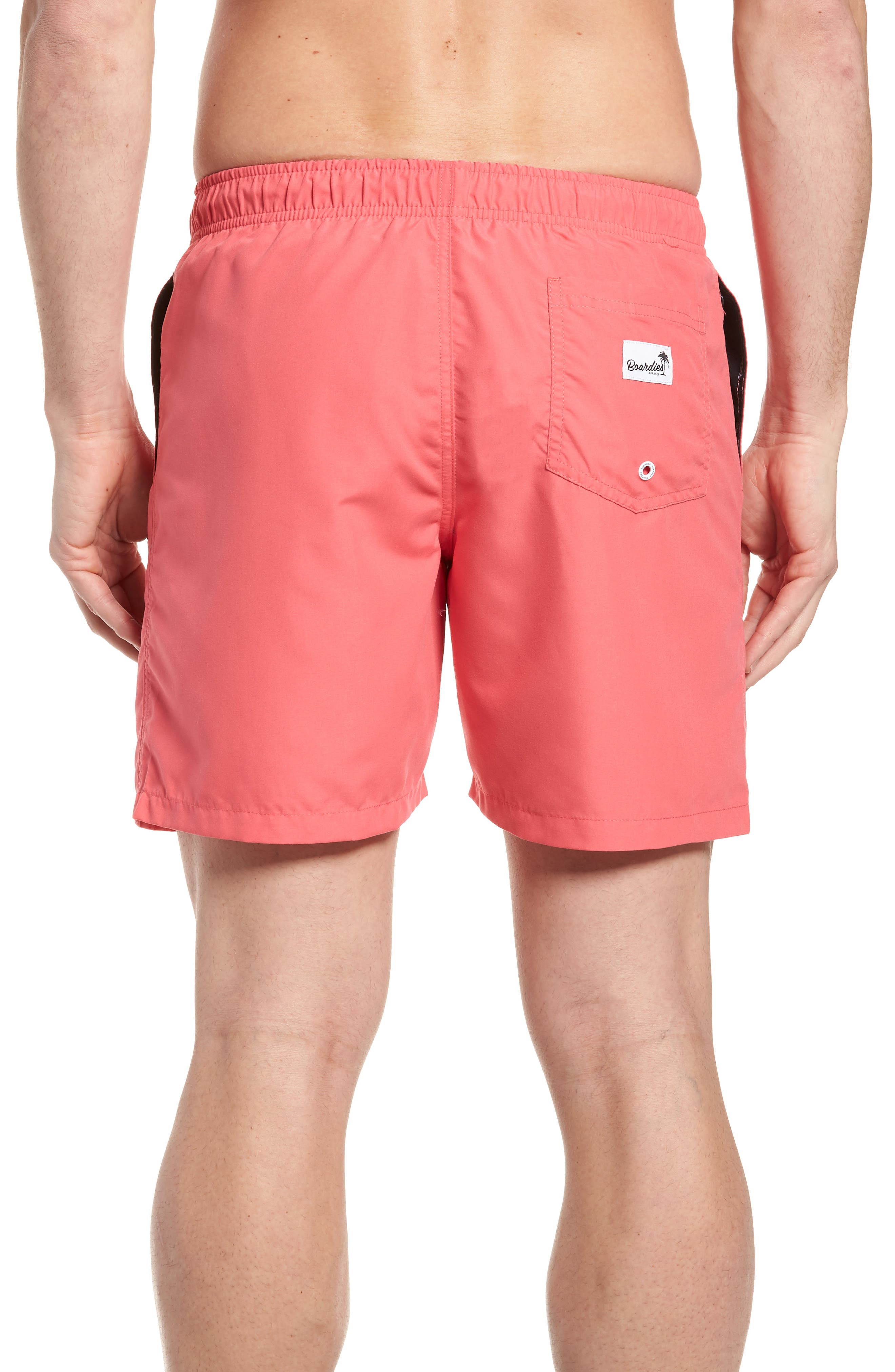 Swim Trunks,                             Alternate thumbnail 2, color,                             Red