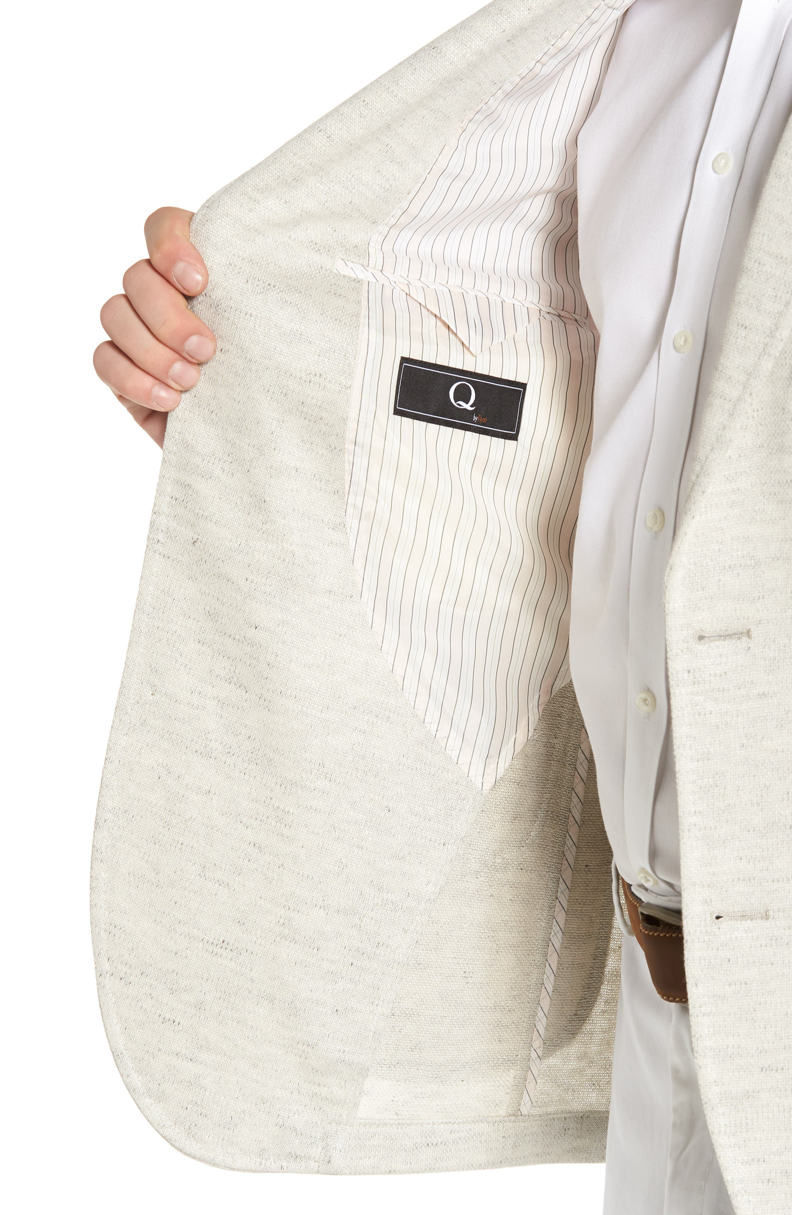 Classic Fit Heathered Jersey Sport Coat,                             Alternate thumbnail 4, color,                             Light Grey