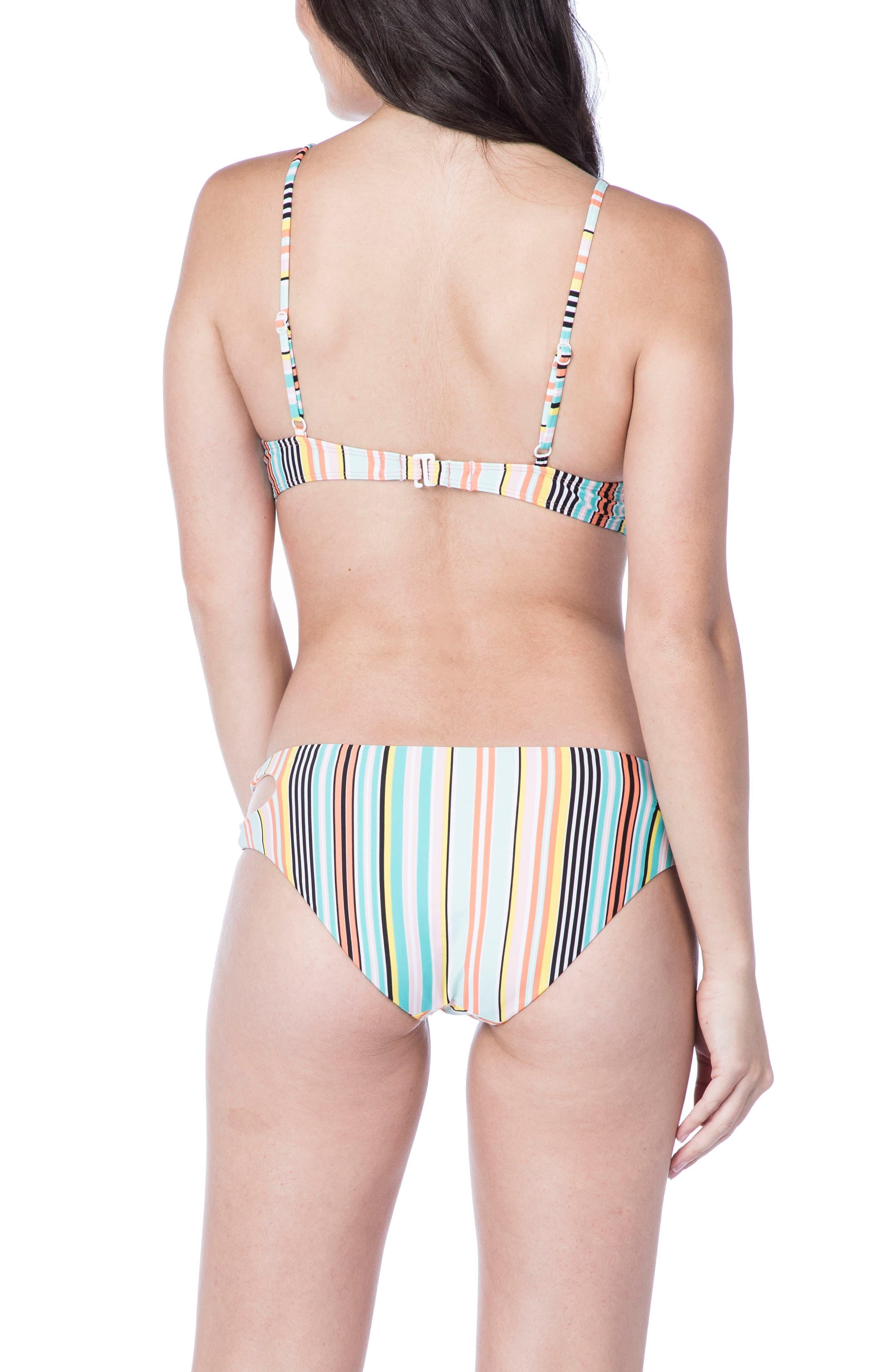 Stripe Triangle Bikini Top,                             Alternate thumbnail 4, color,                             Multi