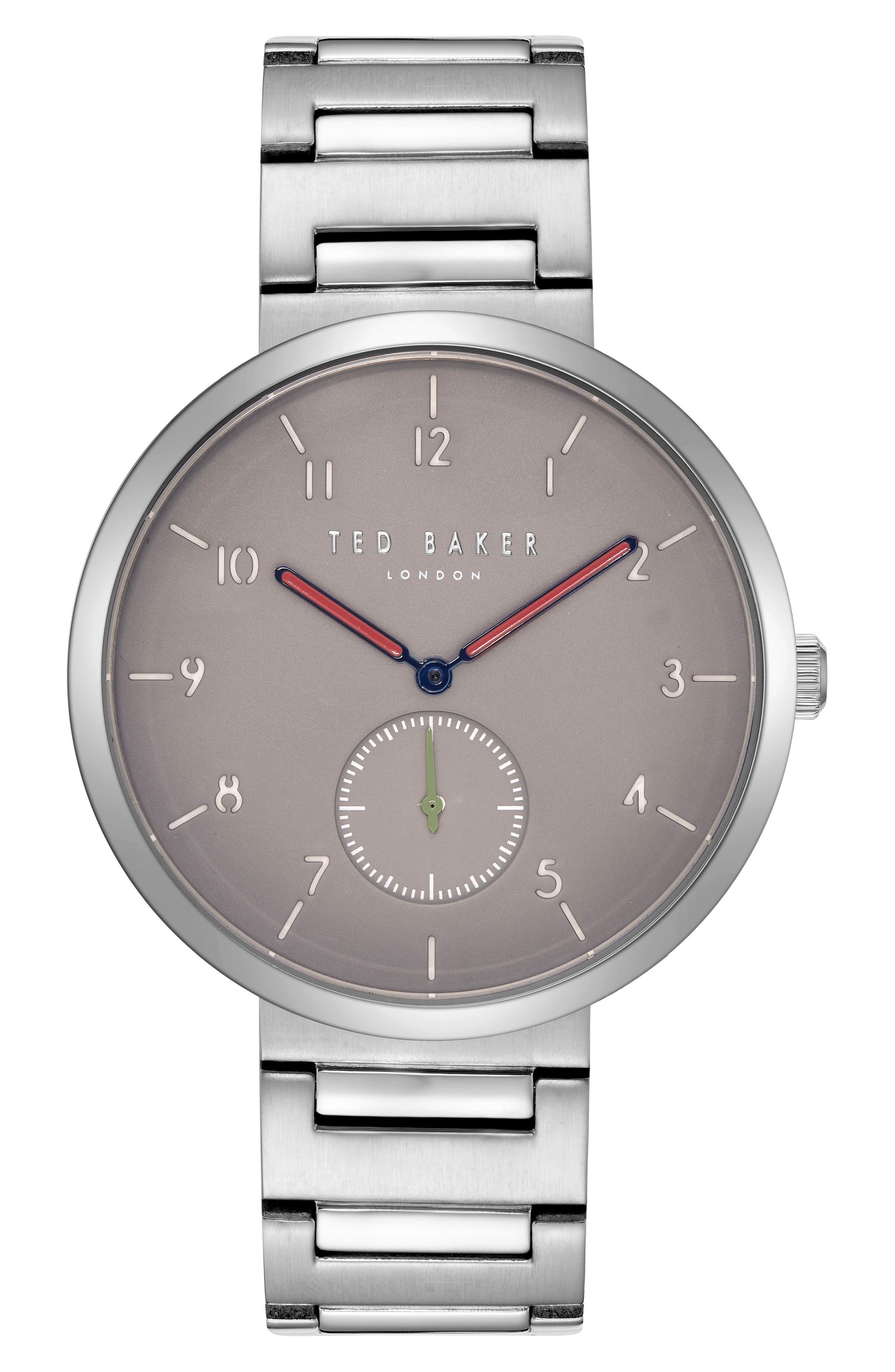 Josh Bracelet Watch, 42mm,                         Main,                         color, Light Grey/ Stainless Steel