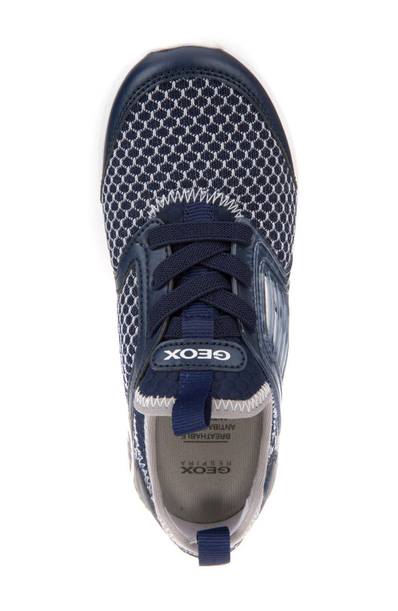 Sveth Sock Sneaker,                             Alternate thumbnail 4, color,                             Navy/ Grey