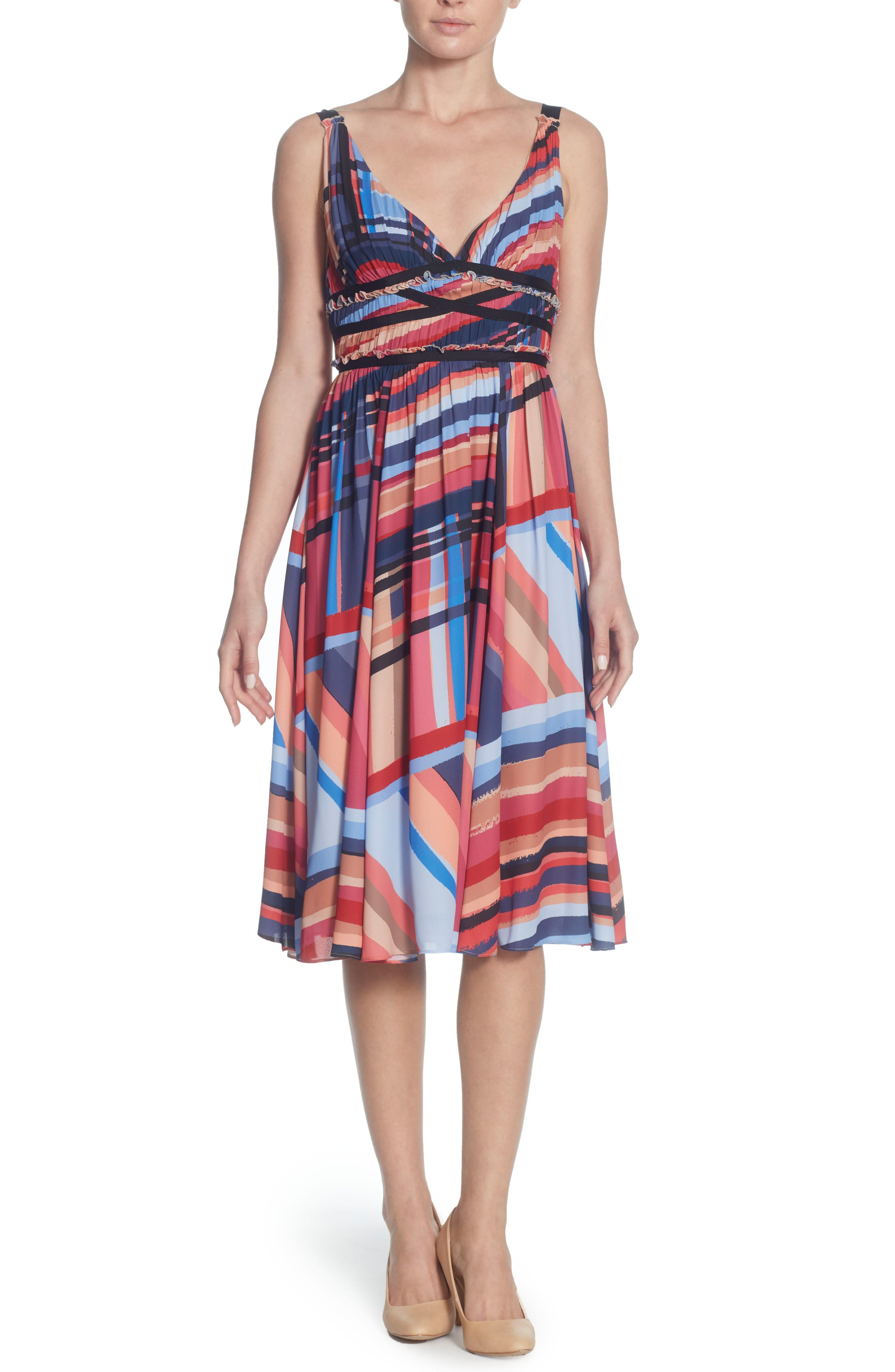 Marlieke Halter Dress,                             Main thumbnail 1, color,                             Washed Stripe