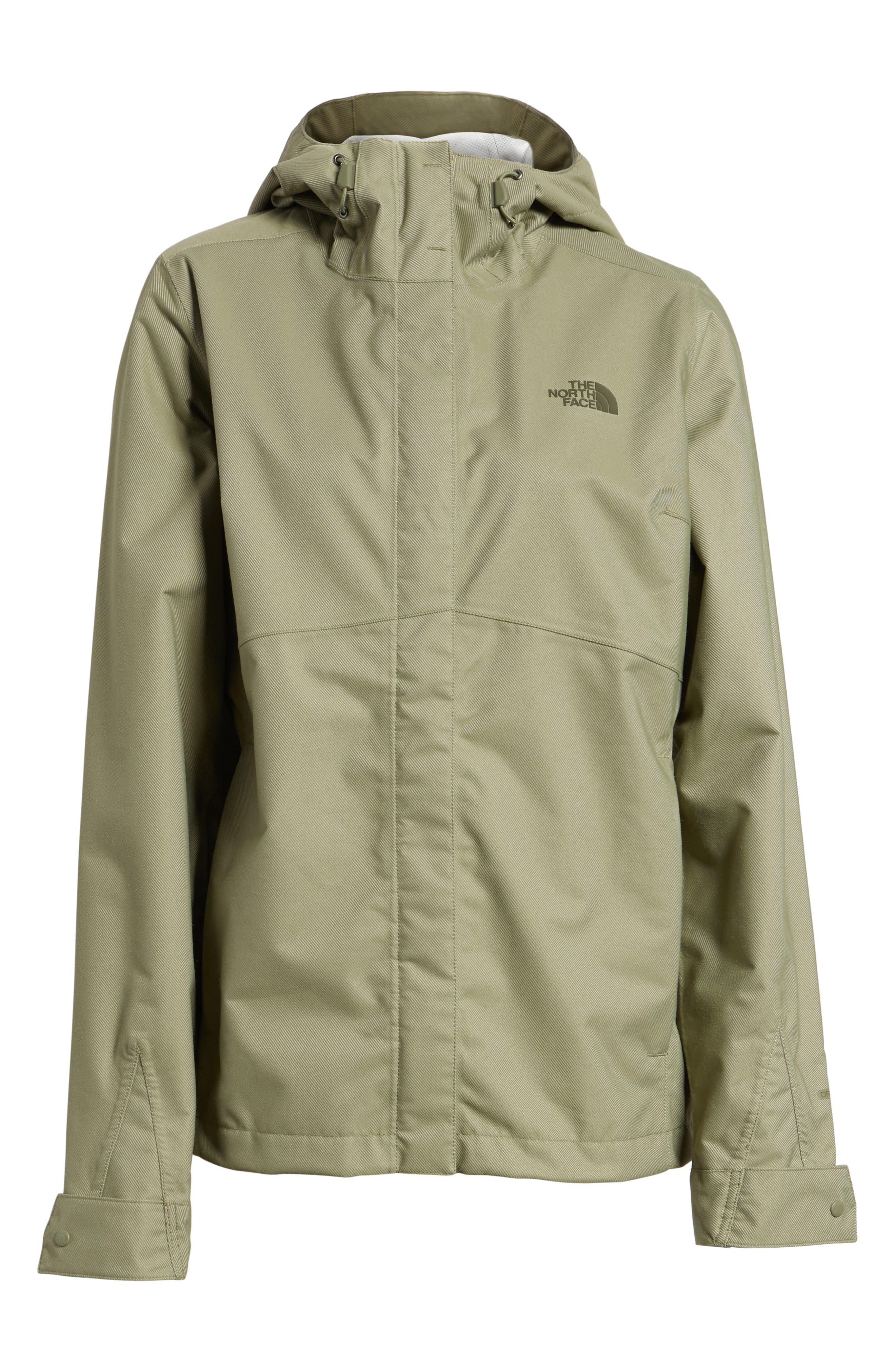 Berrien Waterproof Jacket,                             Alternate thumbnail 6, color,                             Deep Lichen Green Denim