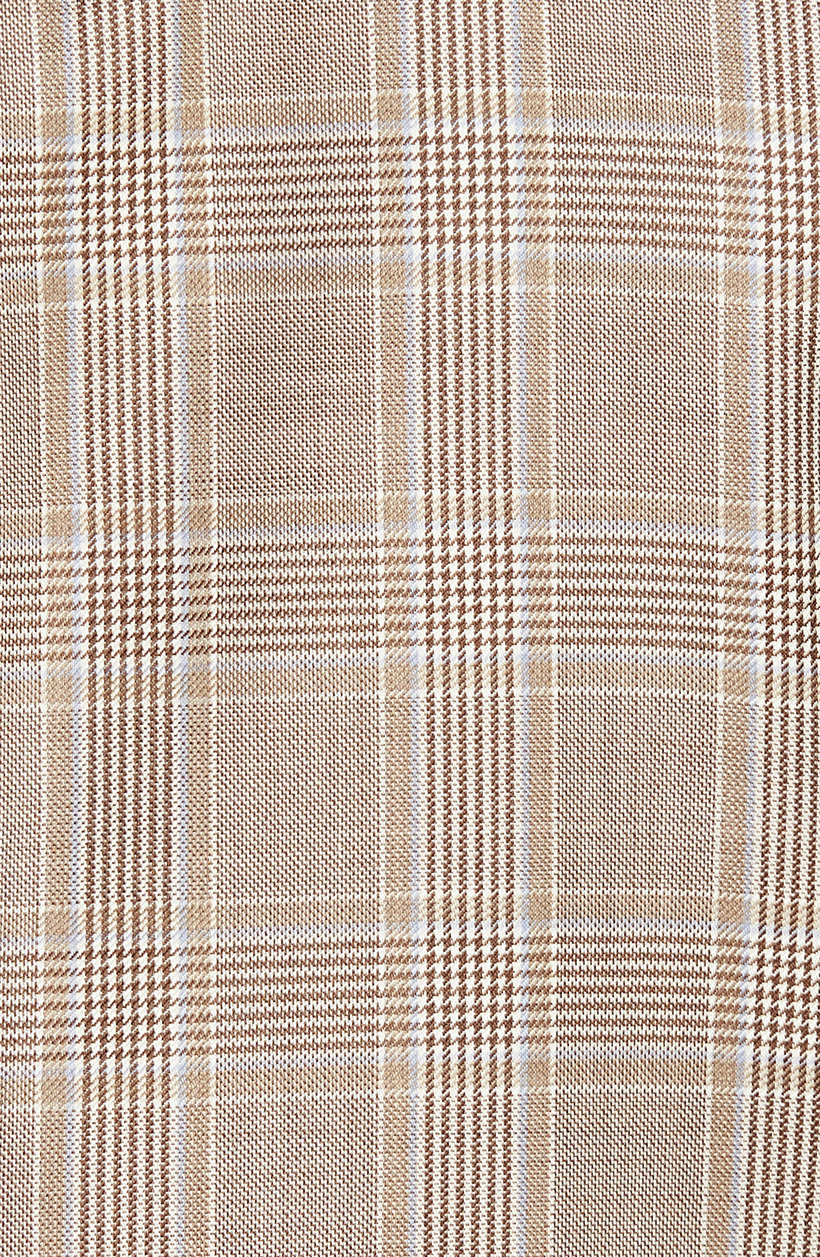 Classic B Fit Plaid Wool Sport Coat,                             Alternate thumbnail 5, color,                             Beige