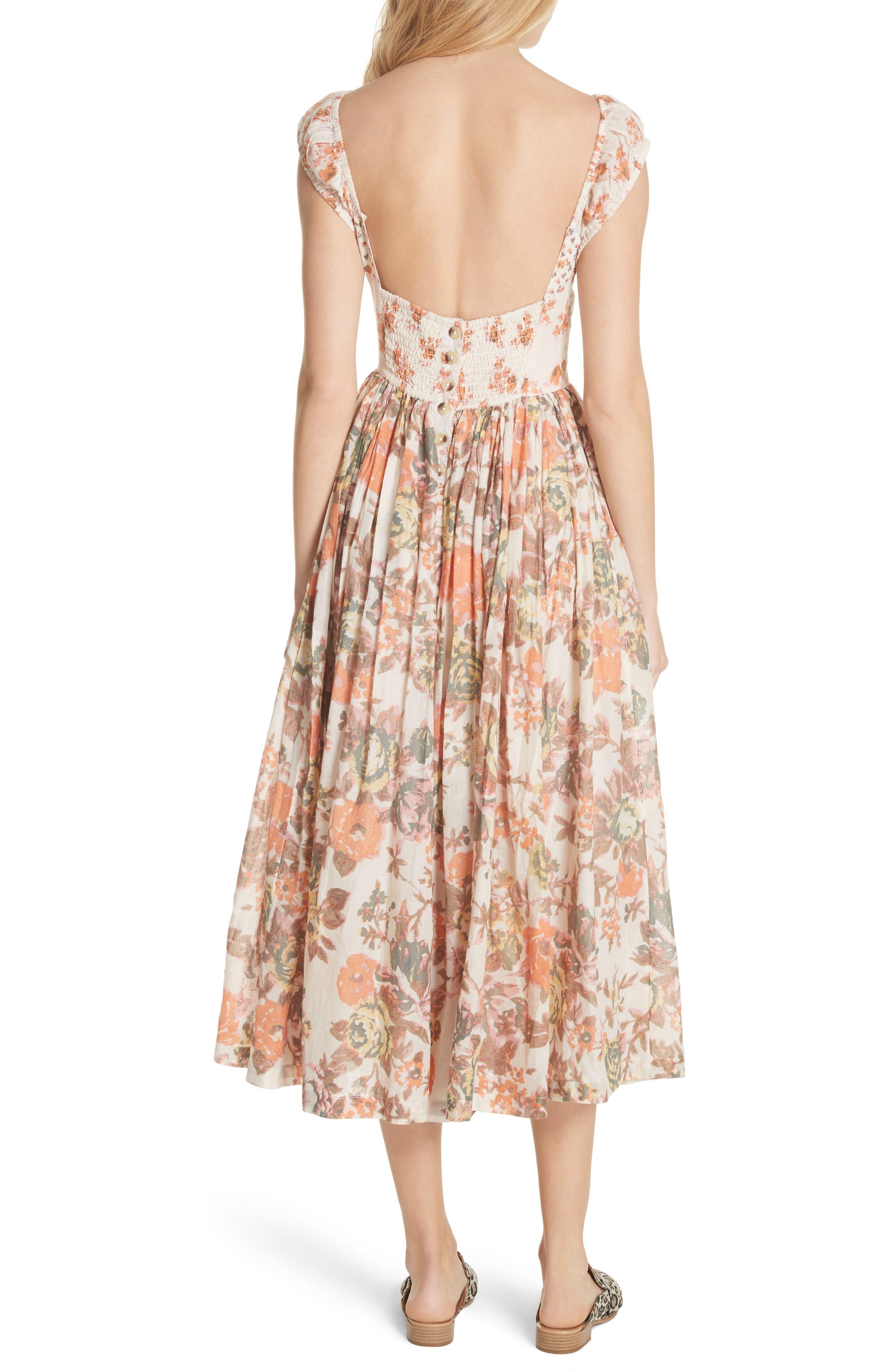 Love You Midi Dress,                             Alternate thumbnail 2, color,                             Ivory