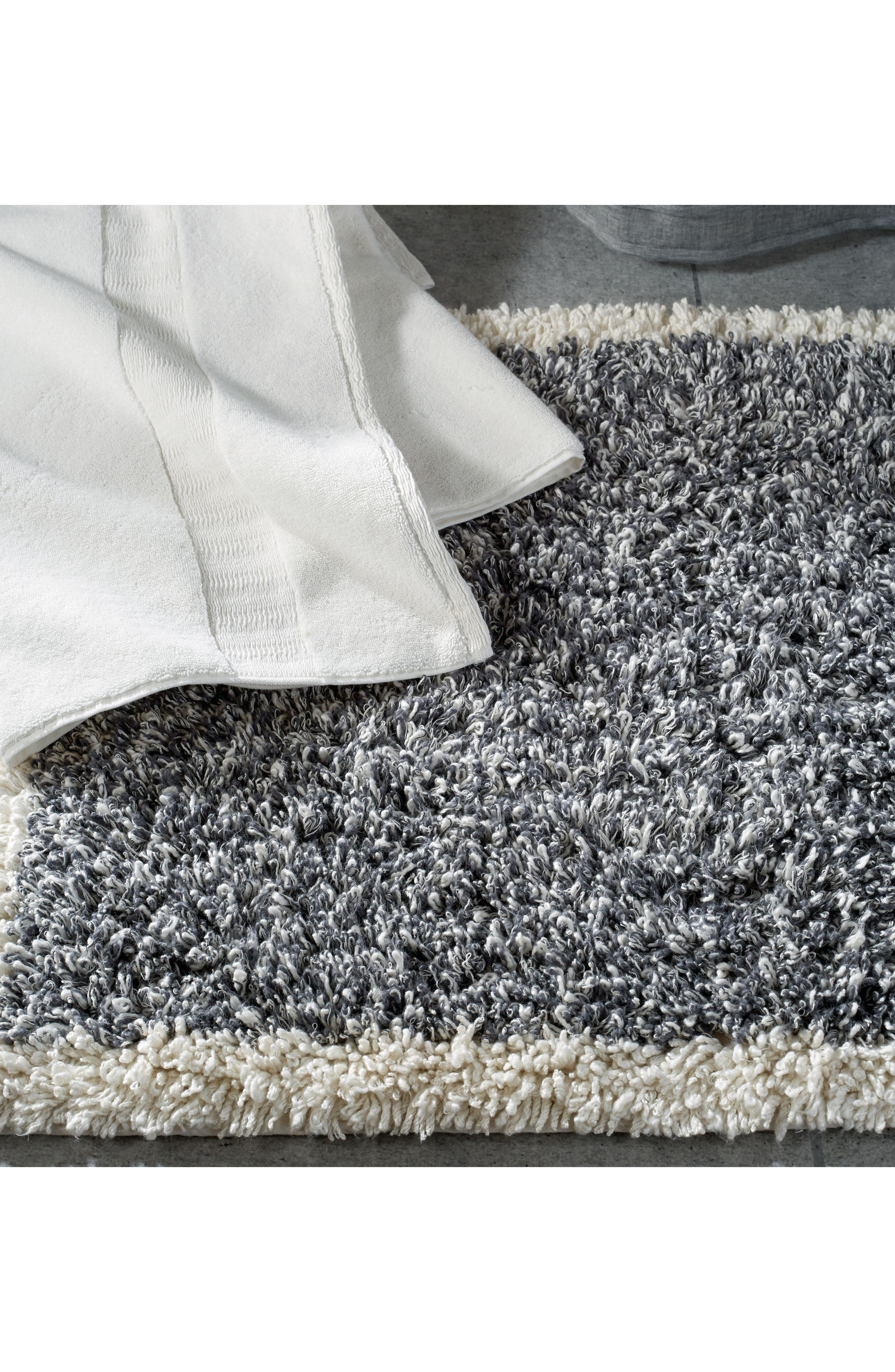 Pure Heathered Rug,                             Alternate thumbnail 2, color,                             Grey/ White