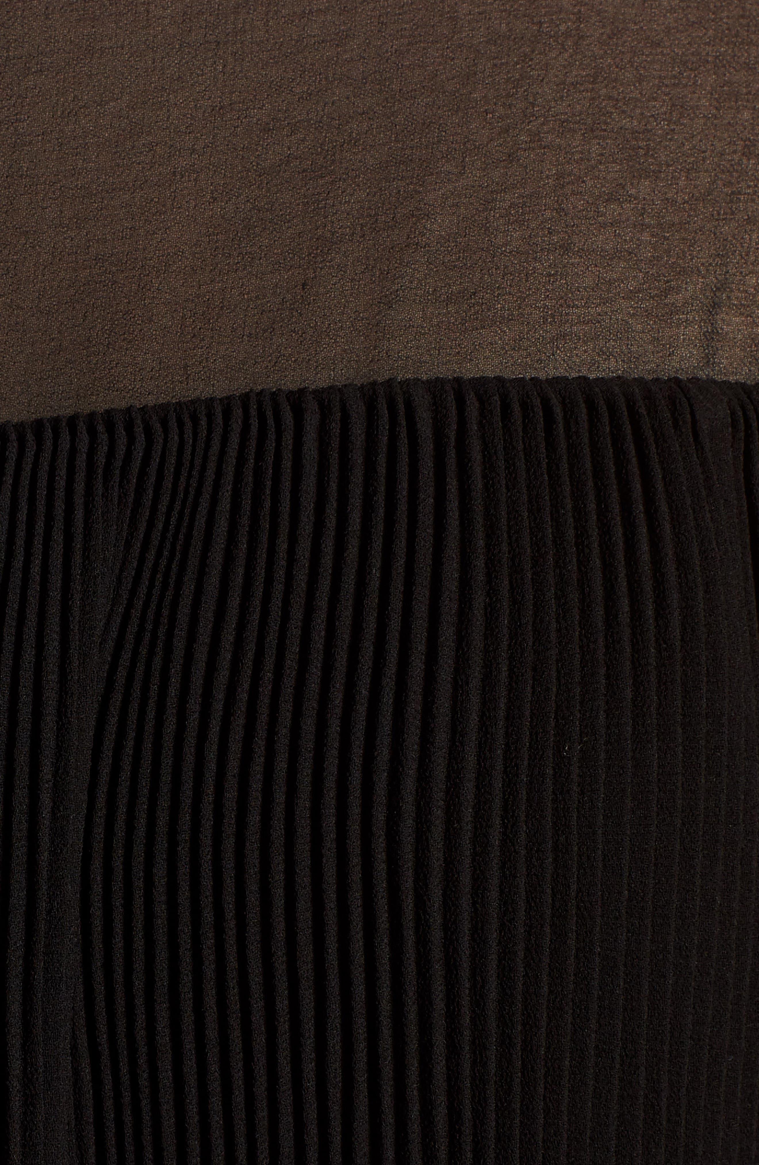 Mesh Tunic,                             Alternate thumbnail 5, color,                             Black