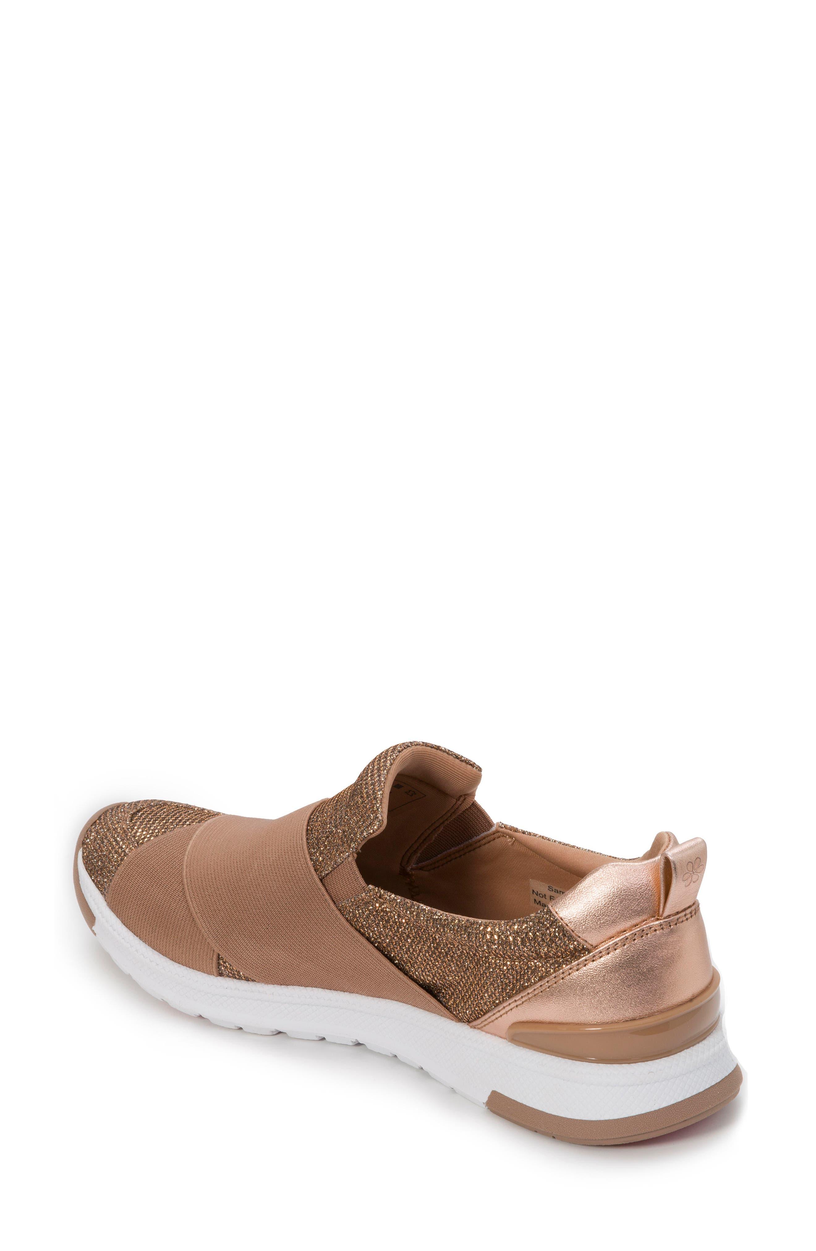 Slip-On Sneaker,                             Alternate thumbnail 2, color,                             Rose Gold Leather