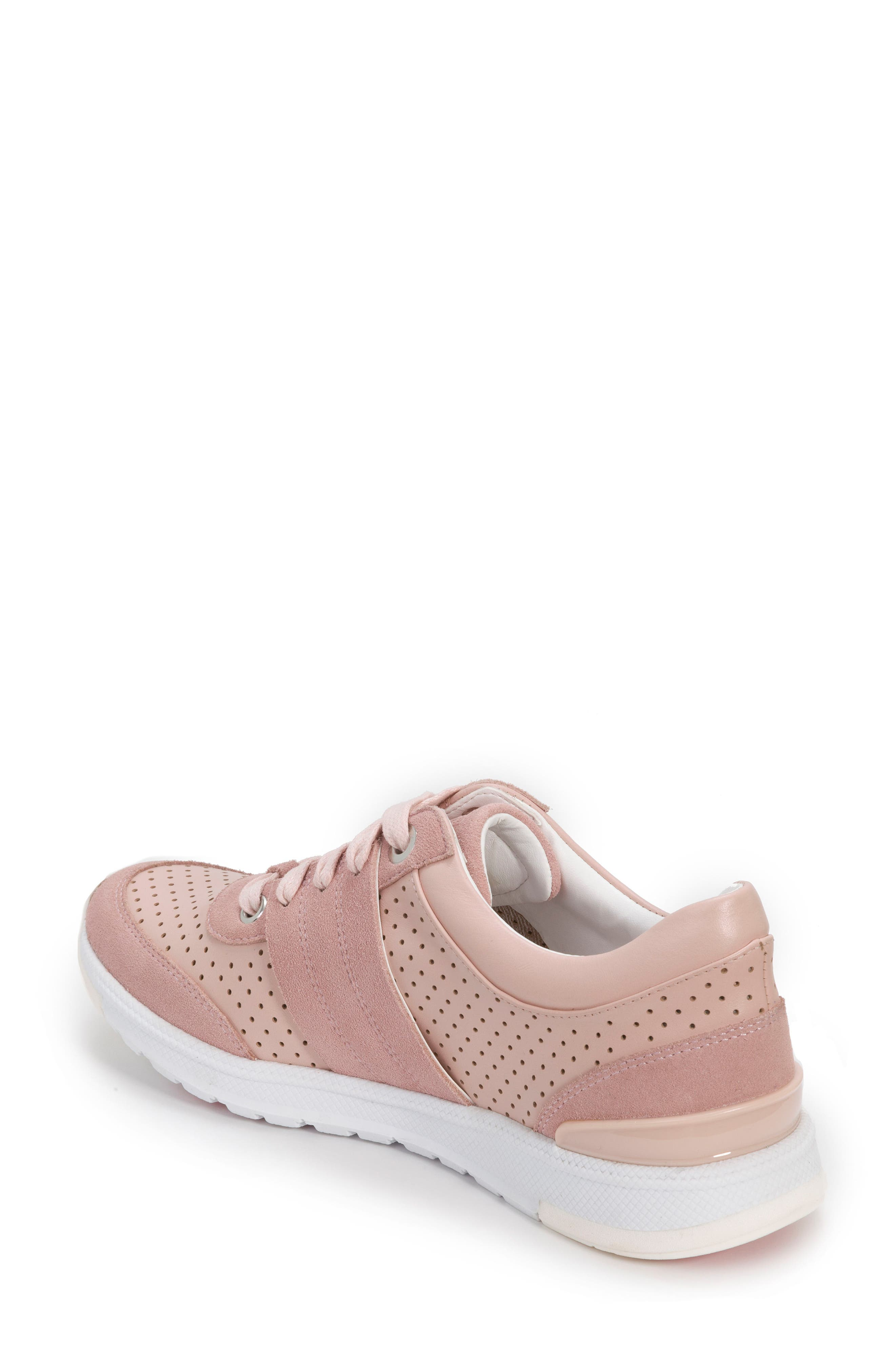 Bea Sneaker,                             Alternate thumbnail 2, color,                             Blush Leather