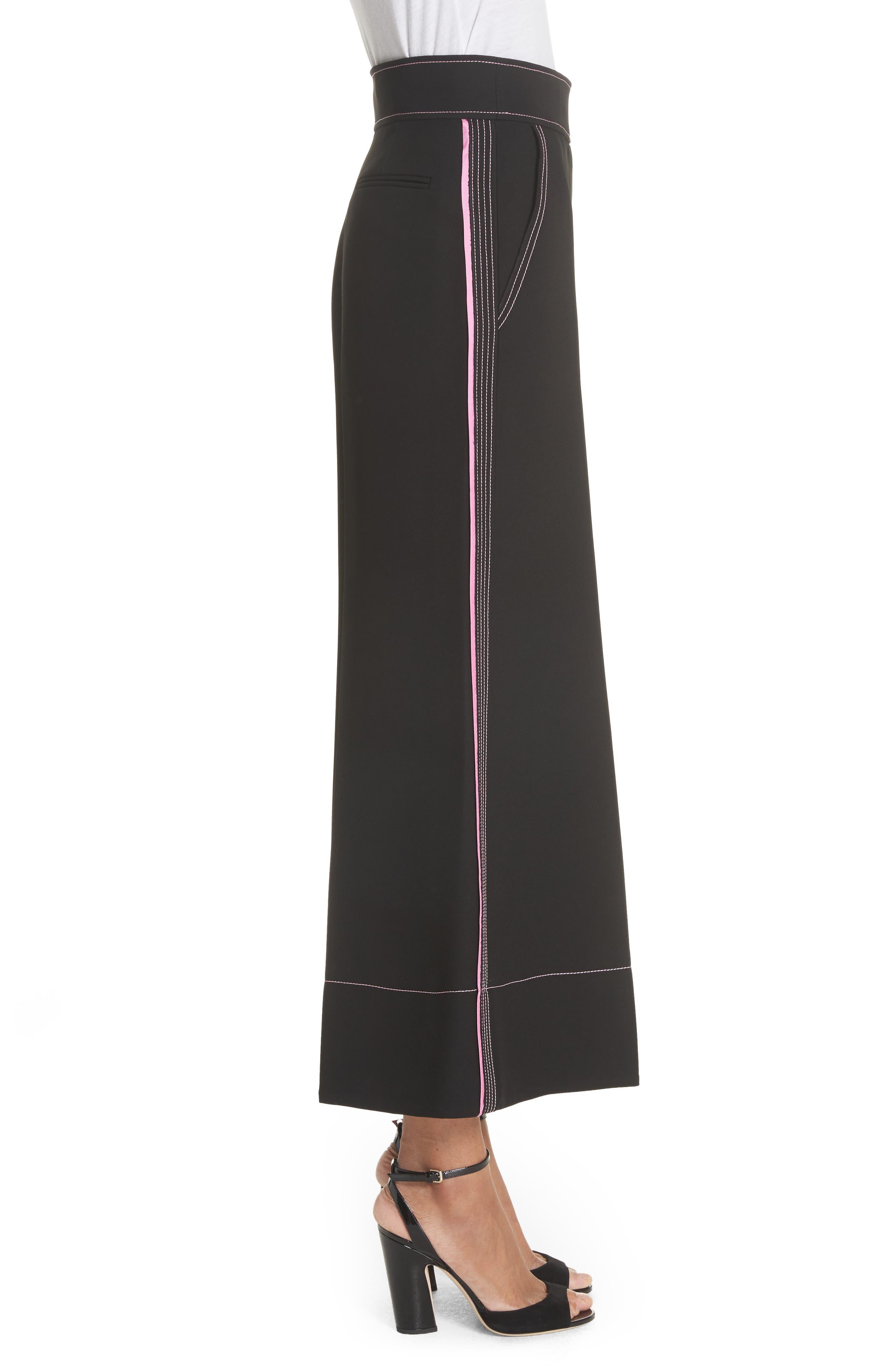 Hasani Wide Leg Pants,                             Alternate thumbnail 3, color,                             Black