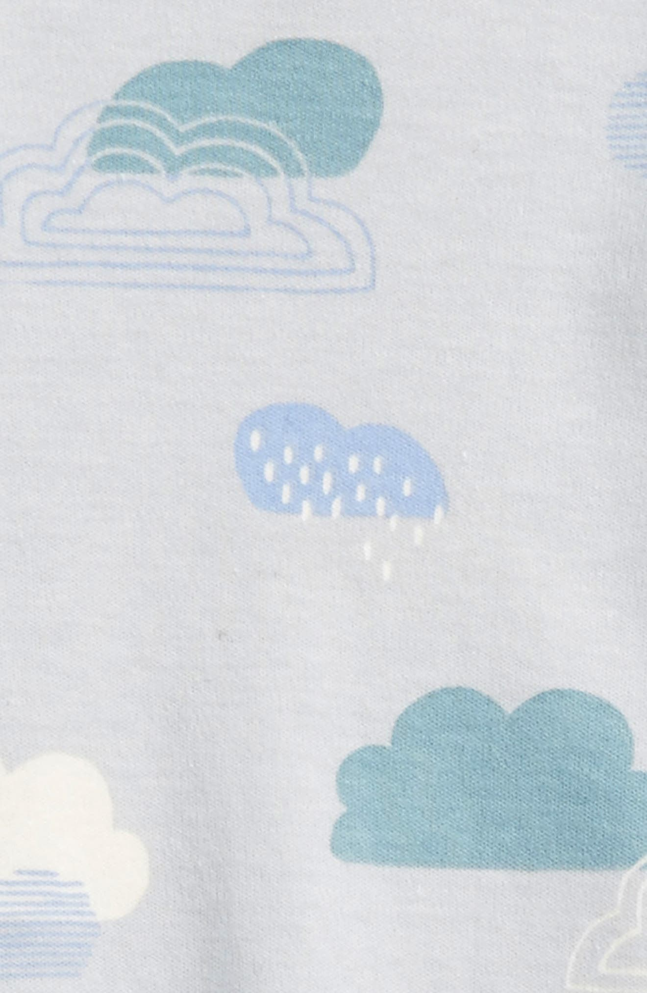 Cloud Print Gown,                             Alternate thumbnail 2, color,                             Clouds