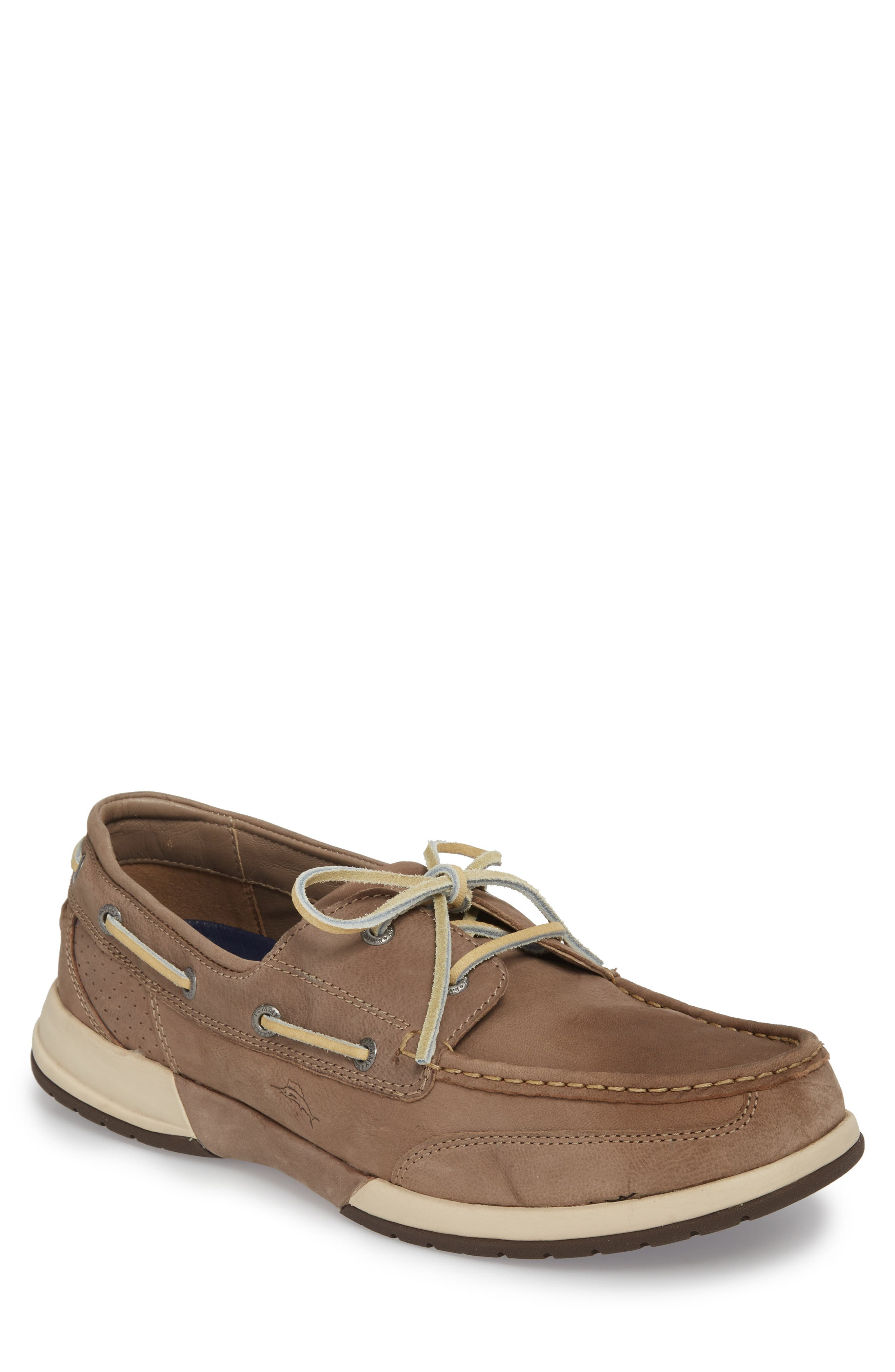 Ashore Thing Boat Shoe,                         Main,                         color, Taupe Nubuck