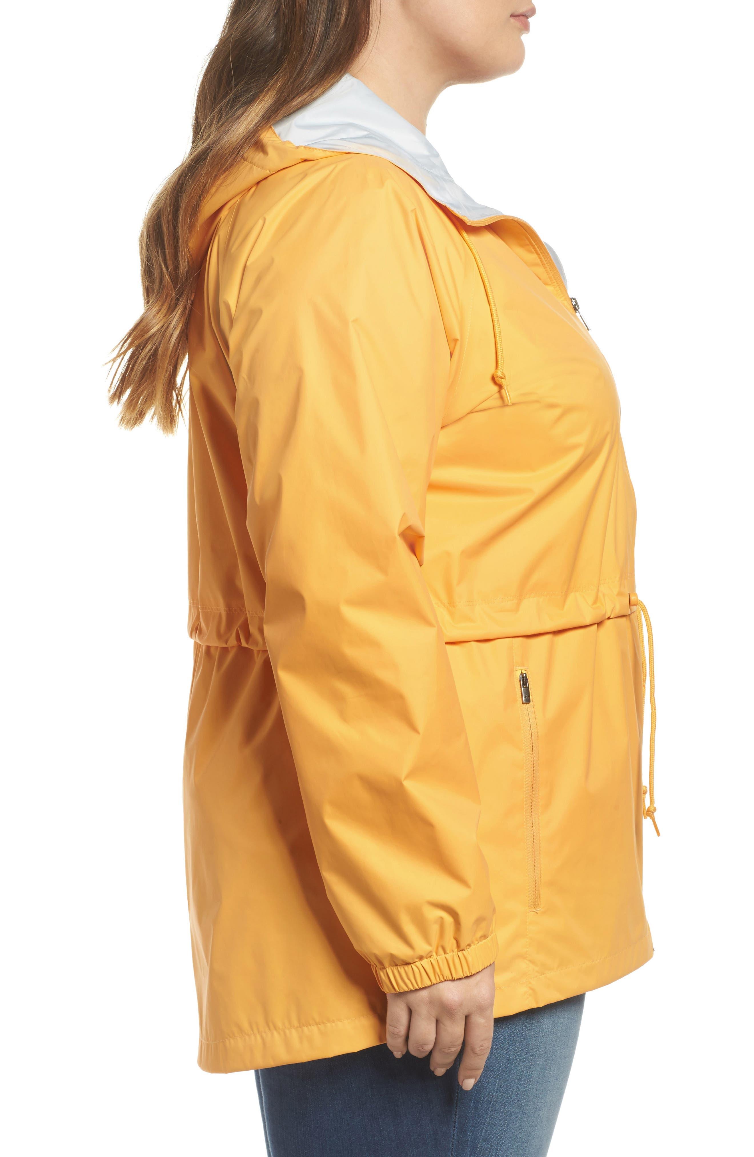 'Arcadia' Hooded Waterproof Casual Jacket,                             Alternate thumbnail 3, color,                             Yellow Ray Cirrus Grey