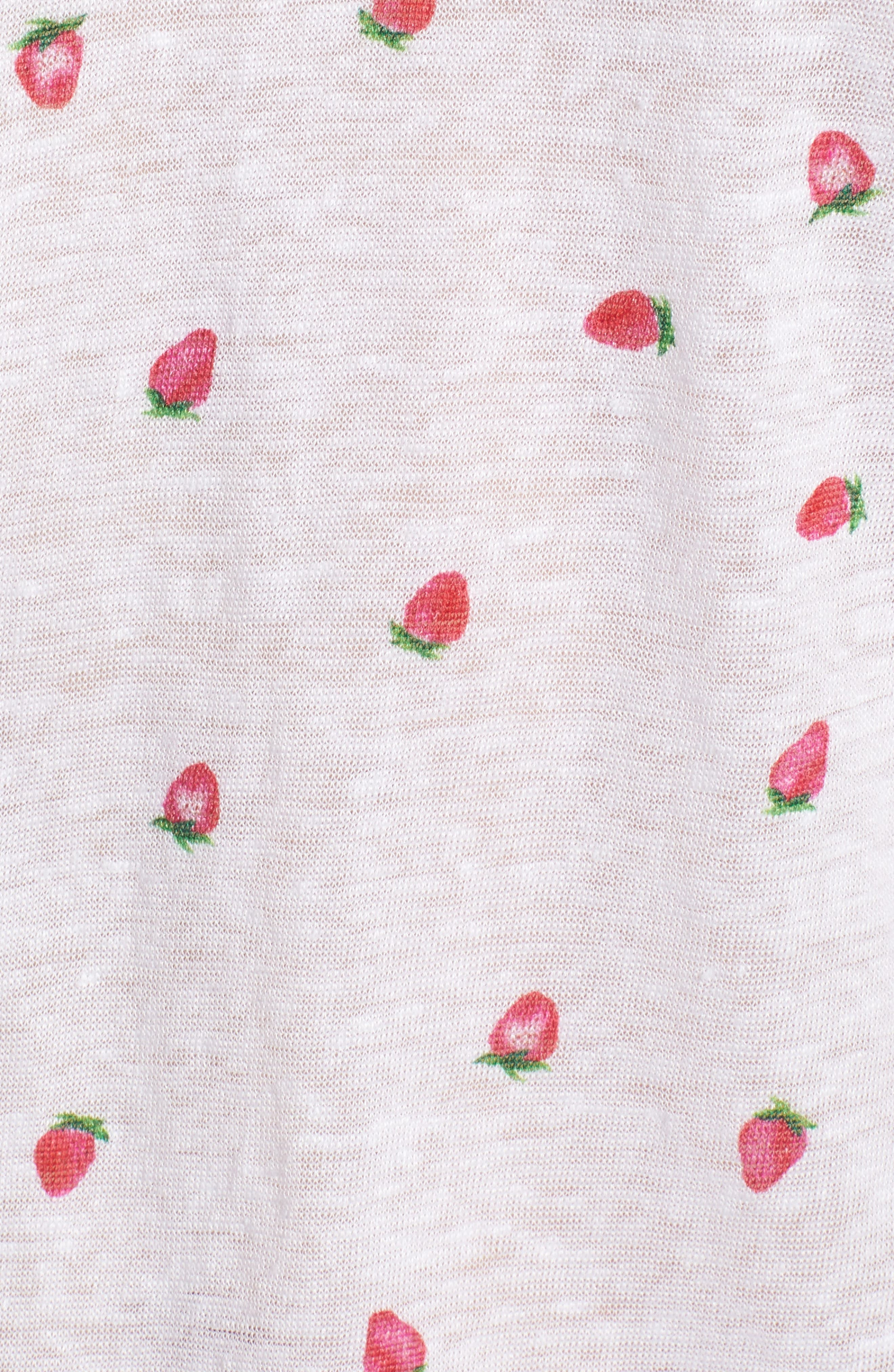 Cara Strawberry Tee,                             Alternate thumbnail 5, color,                             Strawberries