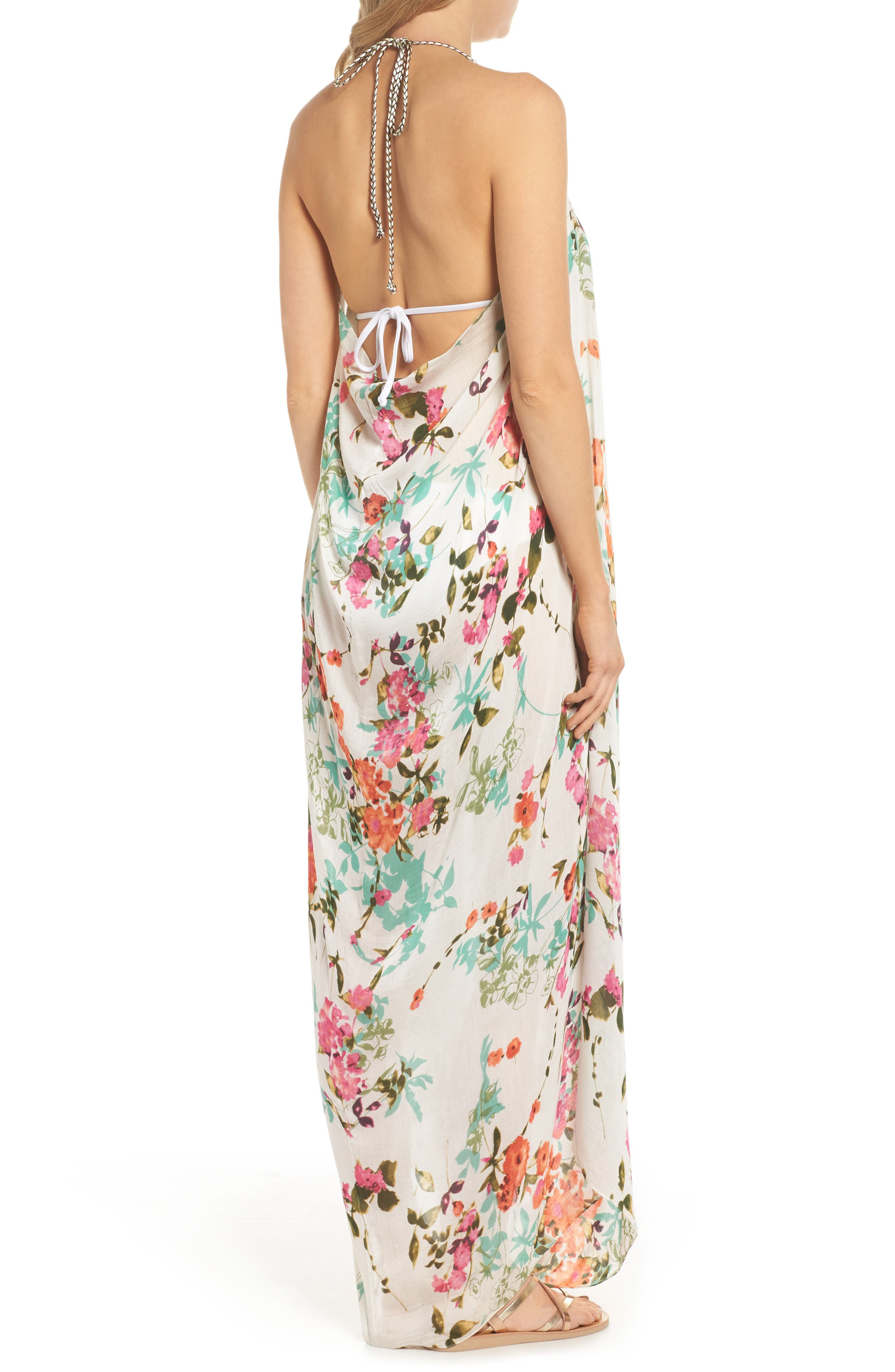 Beach to Street Cover-Up Dress,                             Alternate thumbnail 2, color,                             White