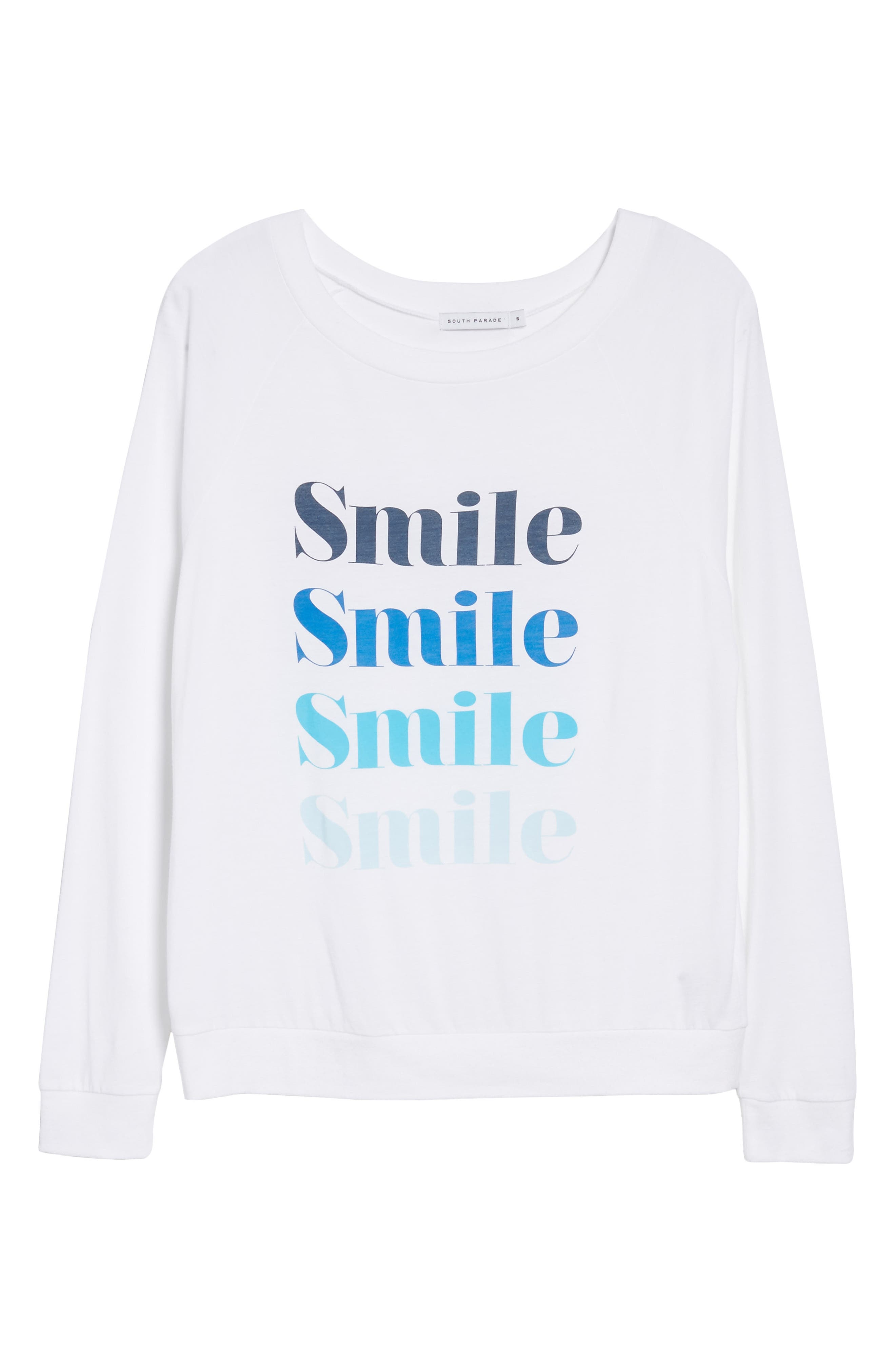 Candy - Smile Smile Pullover,                             Alternate thumbnail 6, color,                             White